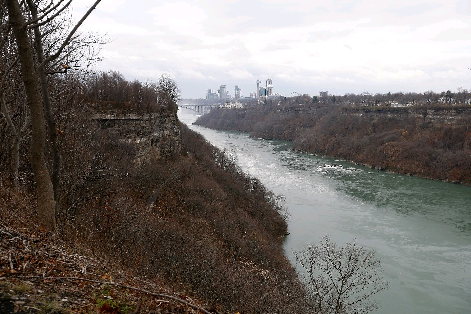 A view of Niagara Falls from the Great Gorge Railway Trail. (Mark Mulville/The Buffalo News)