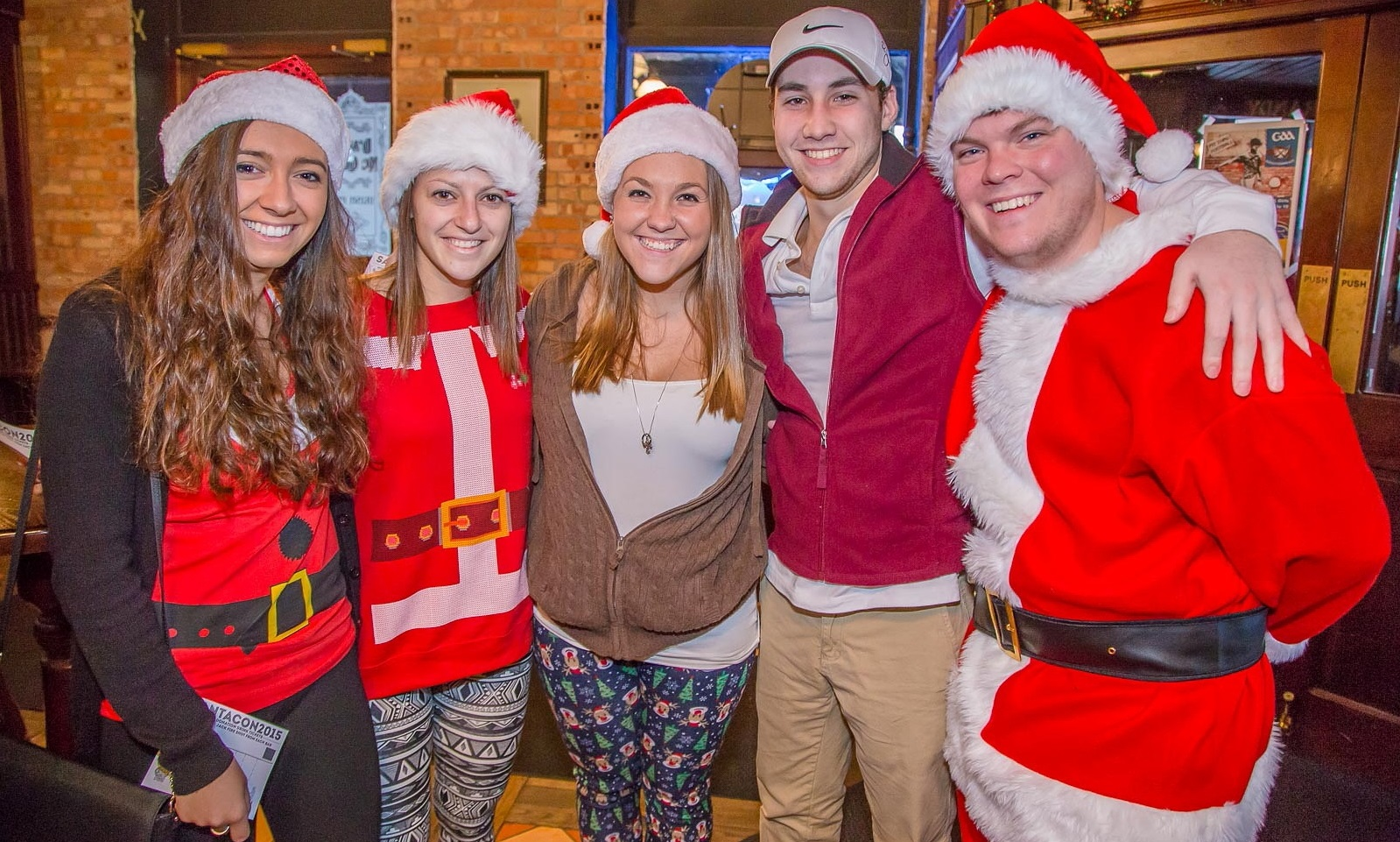 Smiles at the 2015 SantaCon Buffalo event on Chippewa Street. (Don Nieman/Special to The News)