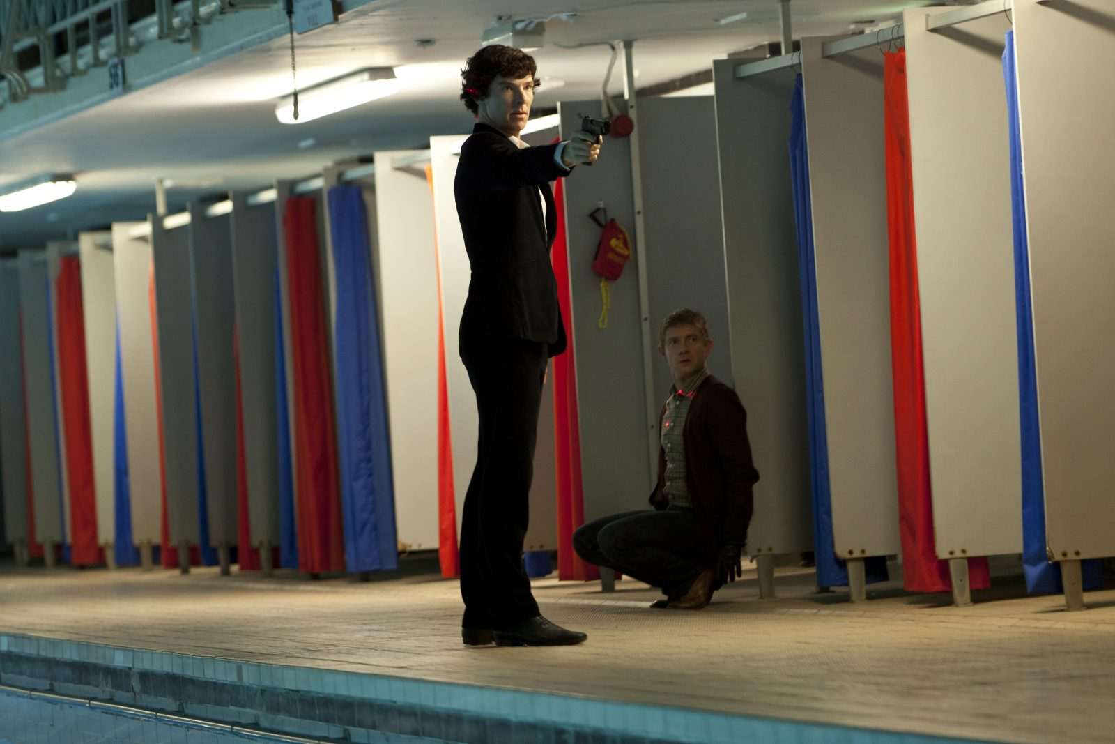 Benedict Cumberbatch and Martin Freeman in 'Sherlock!' (BBC photo)
