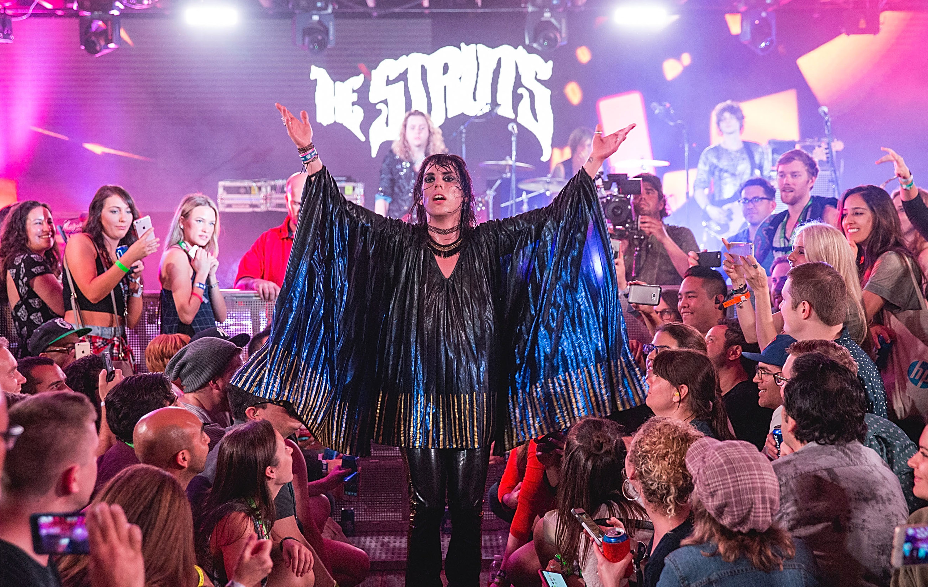 Luke Spiller and the Struts will perform somewhere in Buffalo for a WEDG Hidden Happy Hour. (Getty Images) of The Struts takes the
