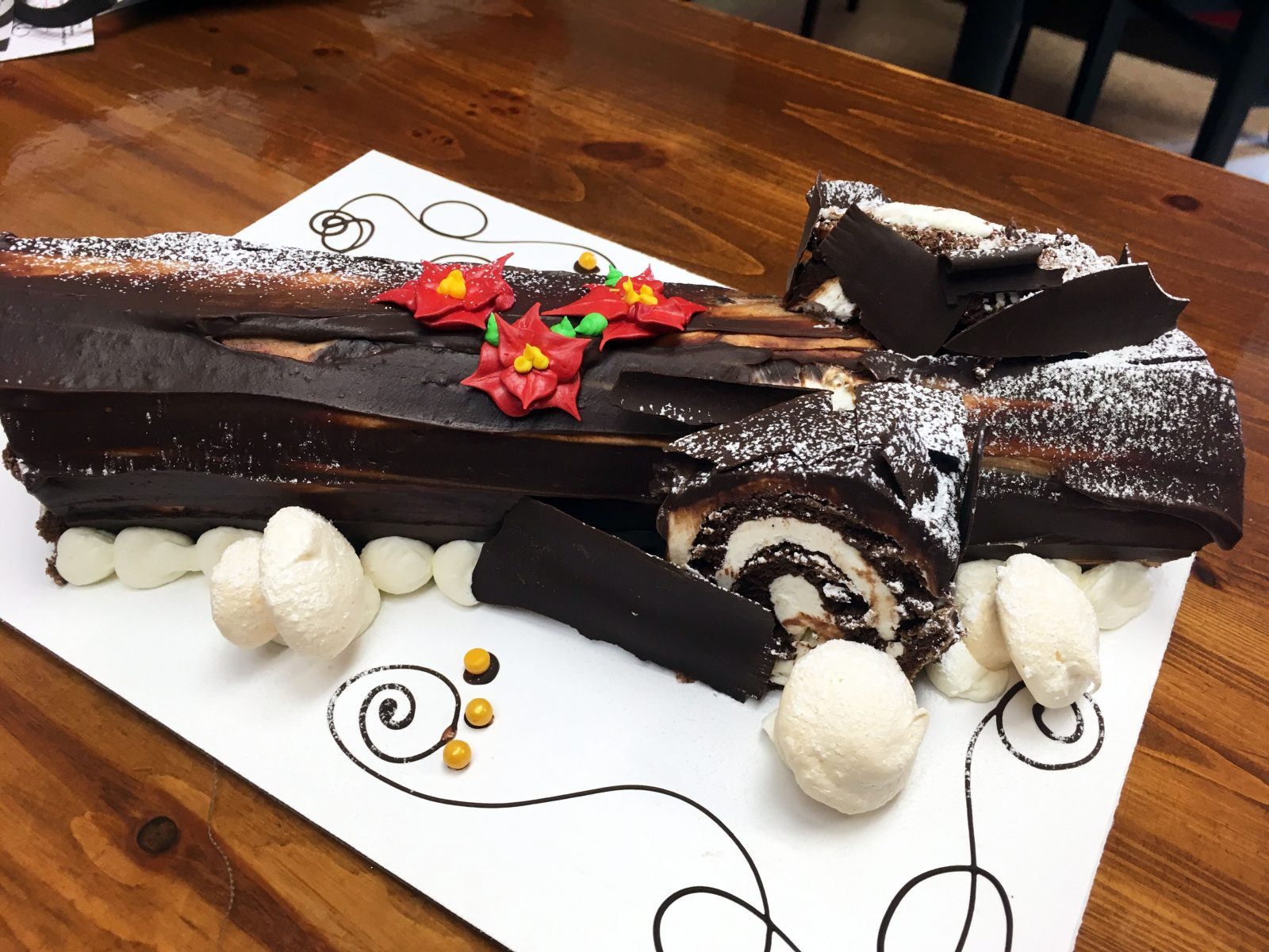 Yule Log Holiday Cookies And More At Carriage Trade Pastries The
