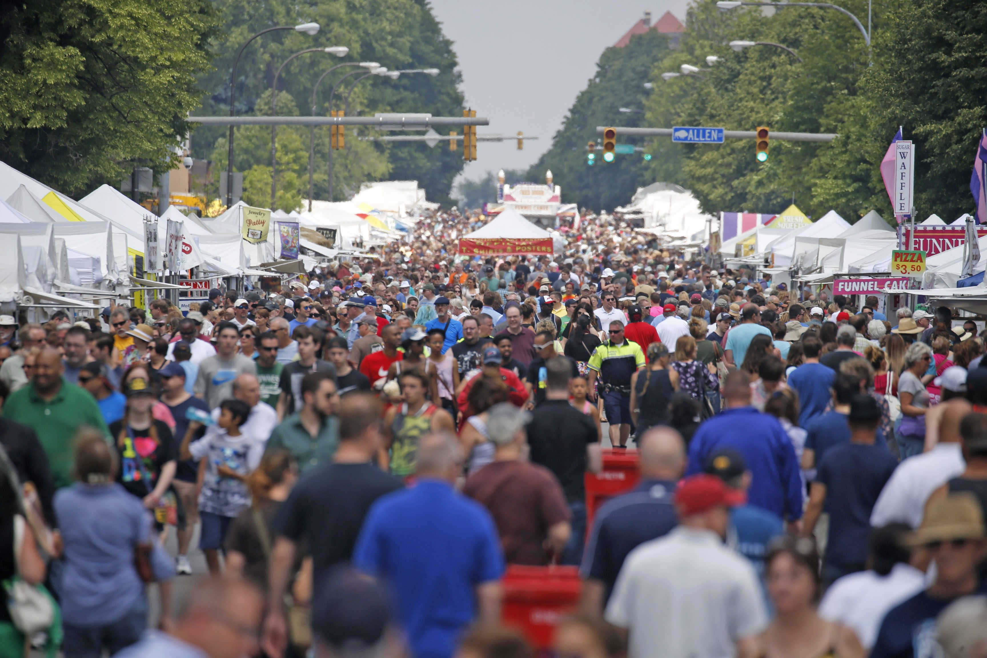 The 61st Annual Allentown Art Festival runs from 10 a.m. to 6 p.m. June 9 and 10. (Robert Kirkham/Buffalo News file photo)