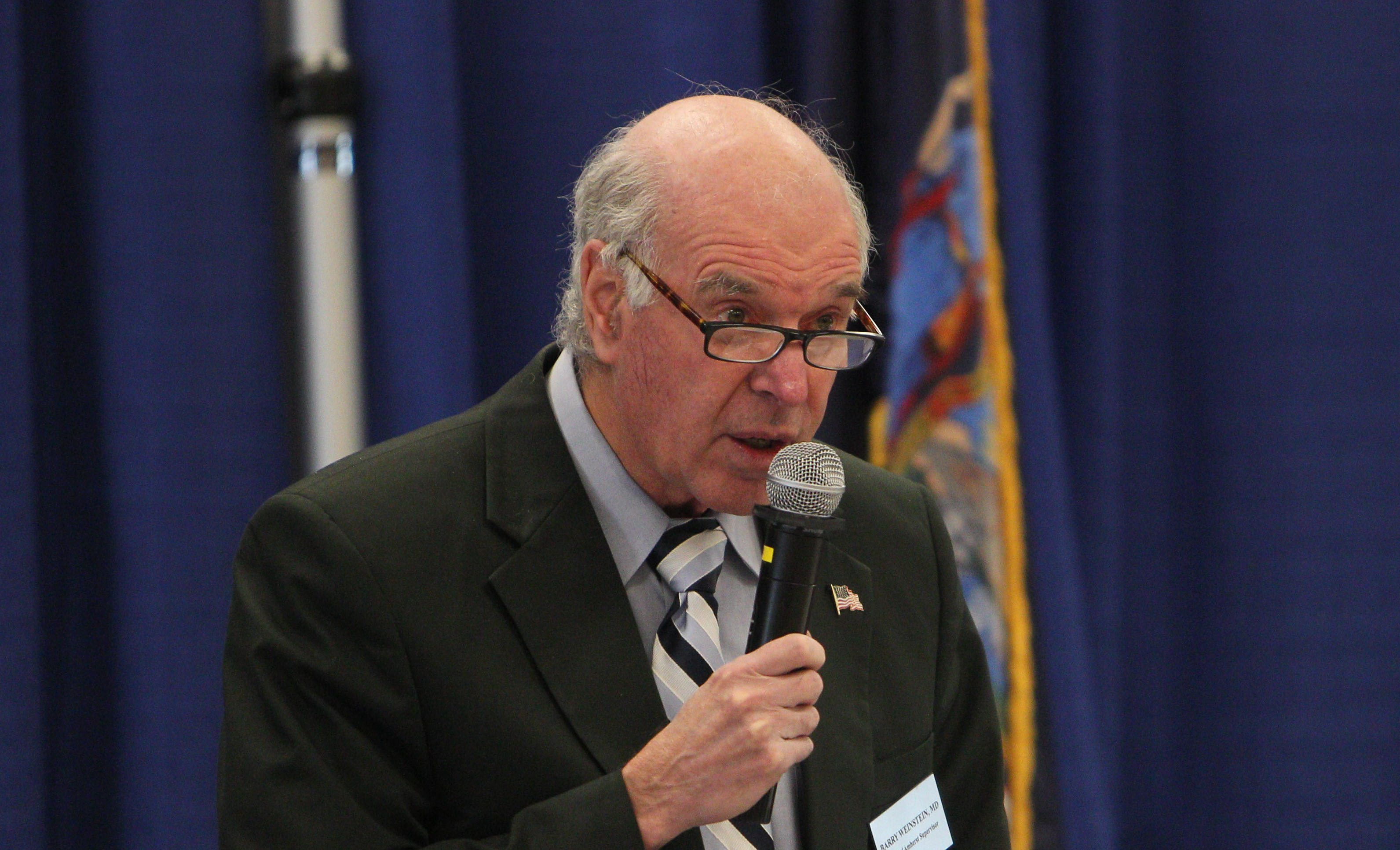 Amherst Supervisor Barry Weinstein's eighth and final budget calls for a 1 percent increase in the tax levy. (News file photo)