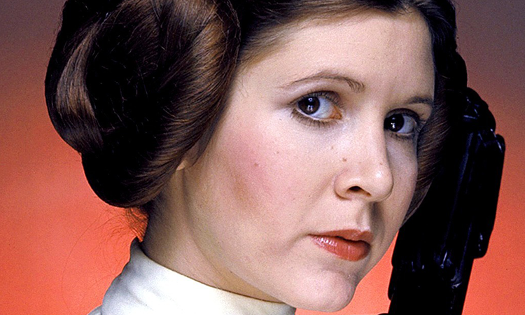 Carrie Fisher in her iconic role as Princess Leia in the original 'Star Wars.'