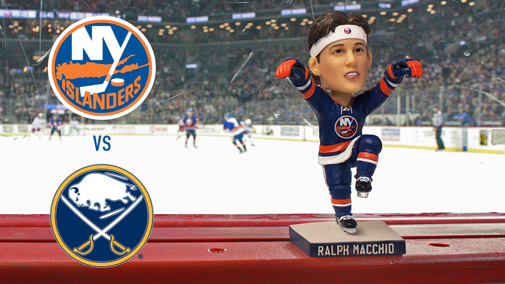 The Islanders will give away a Ralph Macchio bobblehead to the first 10,000 fans. (Photo from NHL.com/Islanders)