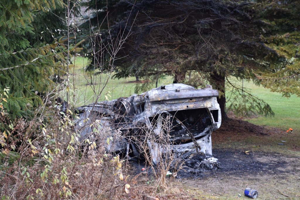 A fiery rollover in Colden Thursday morning ended tragically with the death of Tristan C. Pleace, 18, of Arcade. Hunter Delia, 18, a passenger in the vehicle, was rescued.