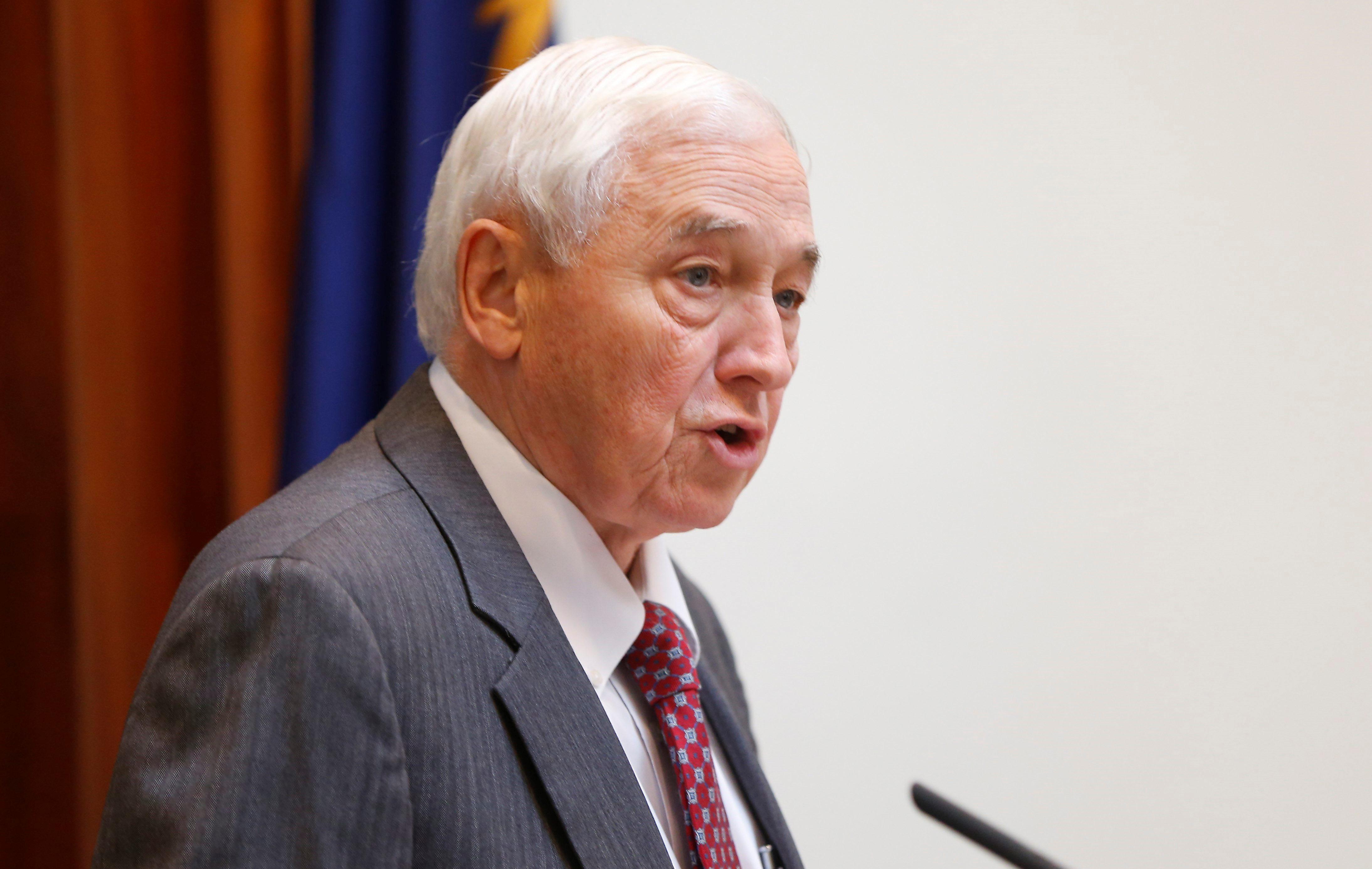 Erie County Legislature Chairman John Mills, pictured during session on Thursday, Nov. 19, 2015. (Mark Mulville/Buffalo News)