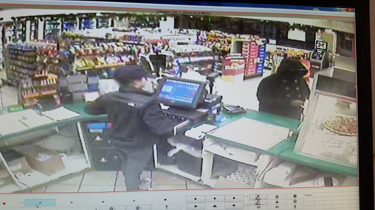 Surveillance image from Wednesday night at Crosby's on Lake Avenue shows robbery suspect. (Niagara County Sheriff's Office)