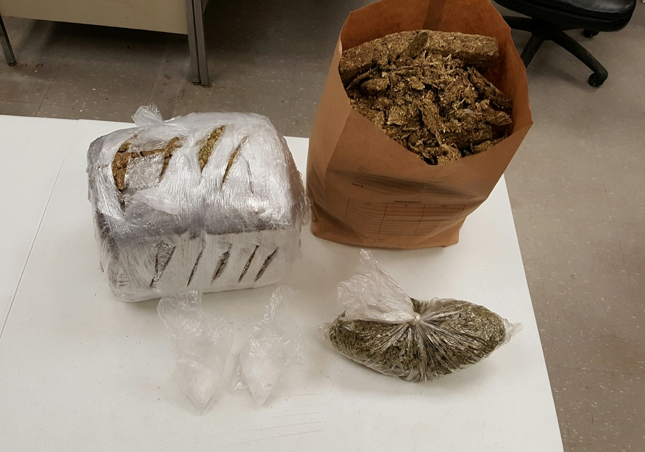 Almost 25 pounds of marijuana and a half-pound of crystal methamphetamine were recovered from three locations Wednesday. (Jamestown Metro Drug Task Force)