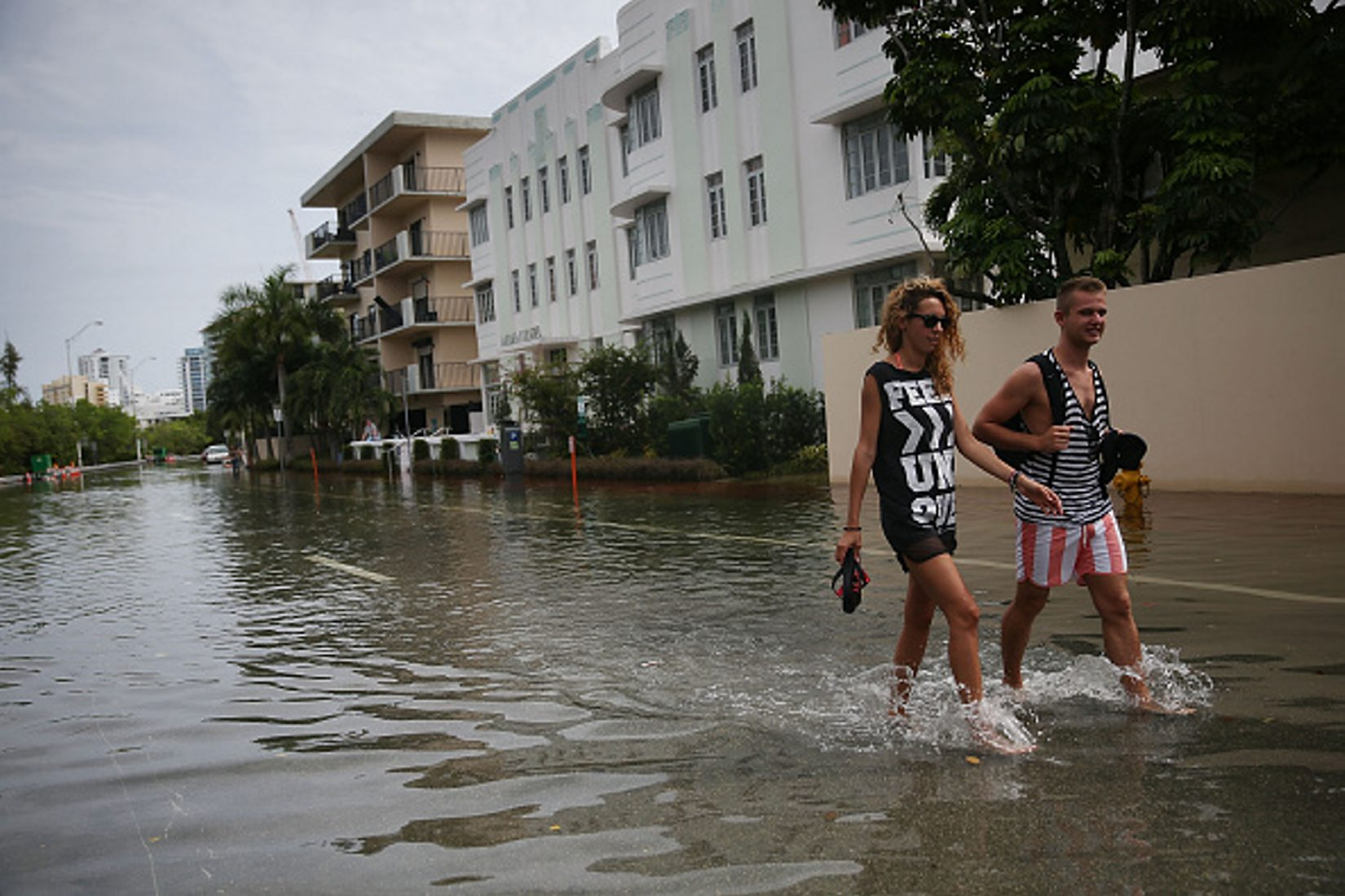 Flooding has become commonplace in Miami Beach and other coastal communities. (Getty Images)