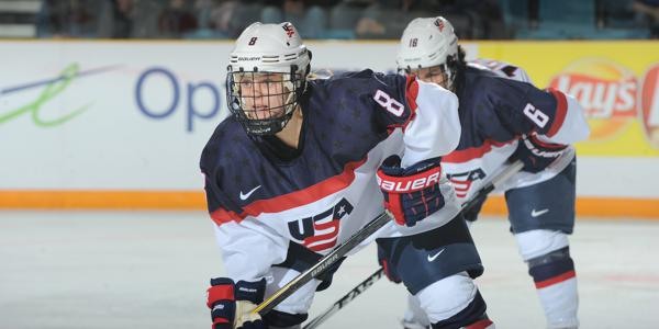 Emily Pfalzer Canada. (USA Hockey)