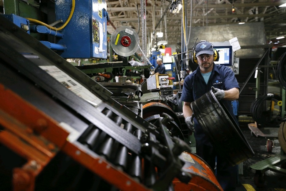 The production line at the Sumitomo tire plant in the Town of Tonawanda – formerly Goodyear Dunlop.