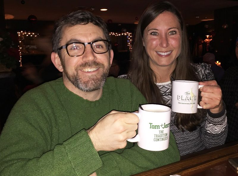 It's a tradition for Sara Wallitt and Mike Adragna to toast the holidays with a Tom & Jerry at The Place. In fact, back in 2009, they did that for 36 days straight during Tom & Jerry season, a feat they say sealed their friendship. (Elizabeth Carey/Special to The News)