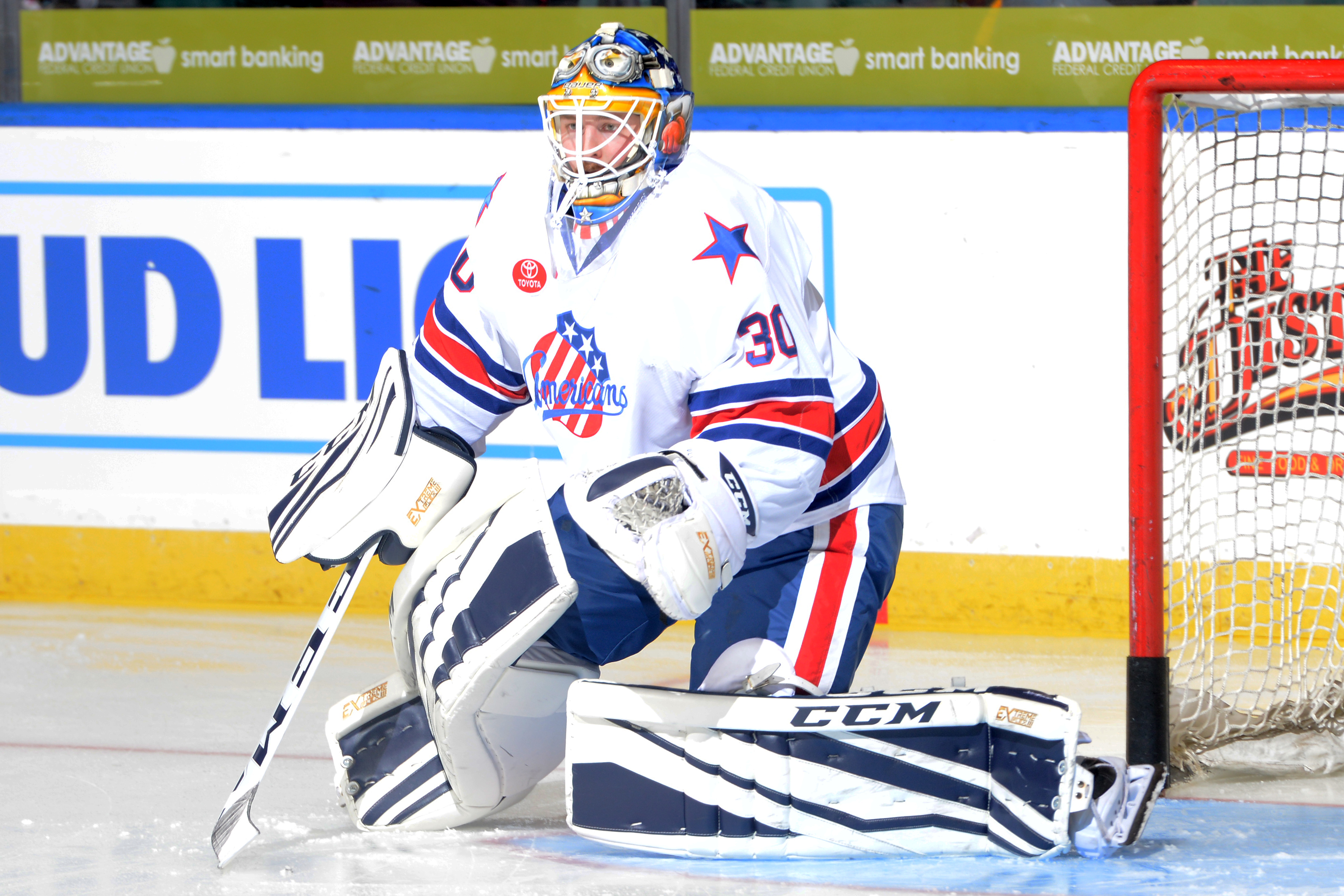 Linus Ullmark has had an All-Star season in Rochester (Rochester Amerks photo).
