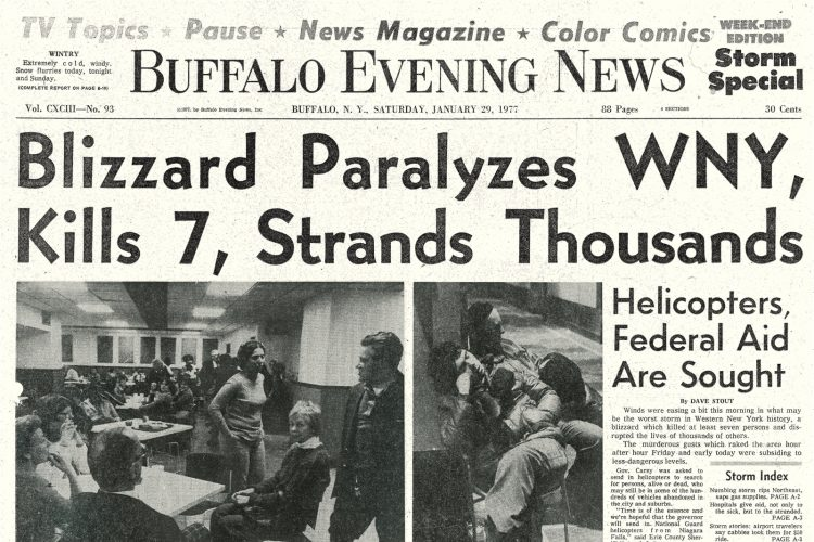 The Blizzard of '77 in the Buffalo Evening News