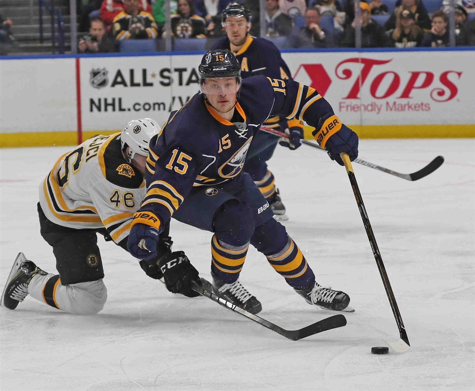 Jack Eichel has inspired the Sabres with his words and goals. (James P. McCoy/Buffalo News)