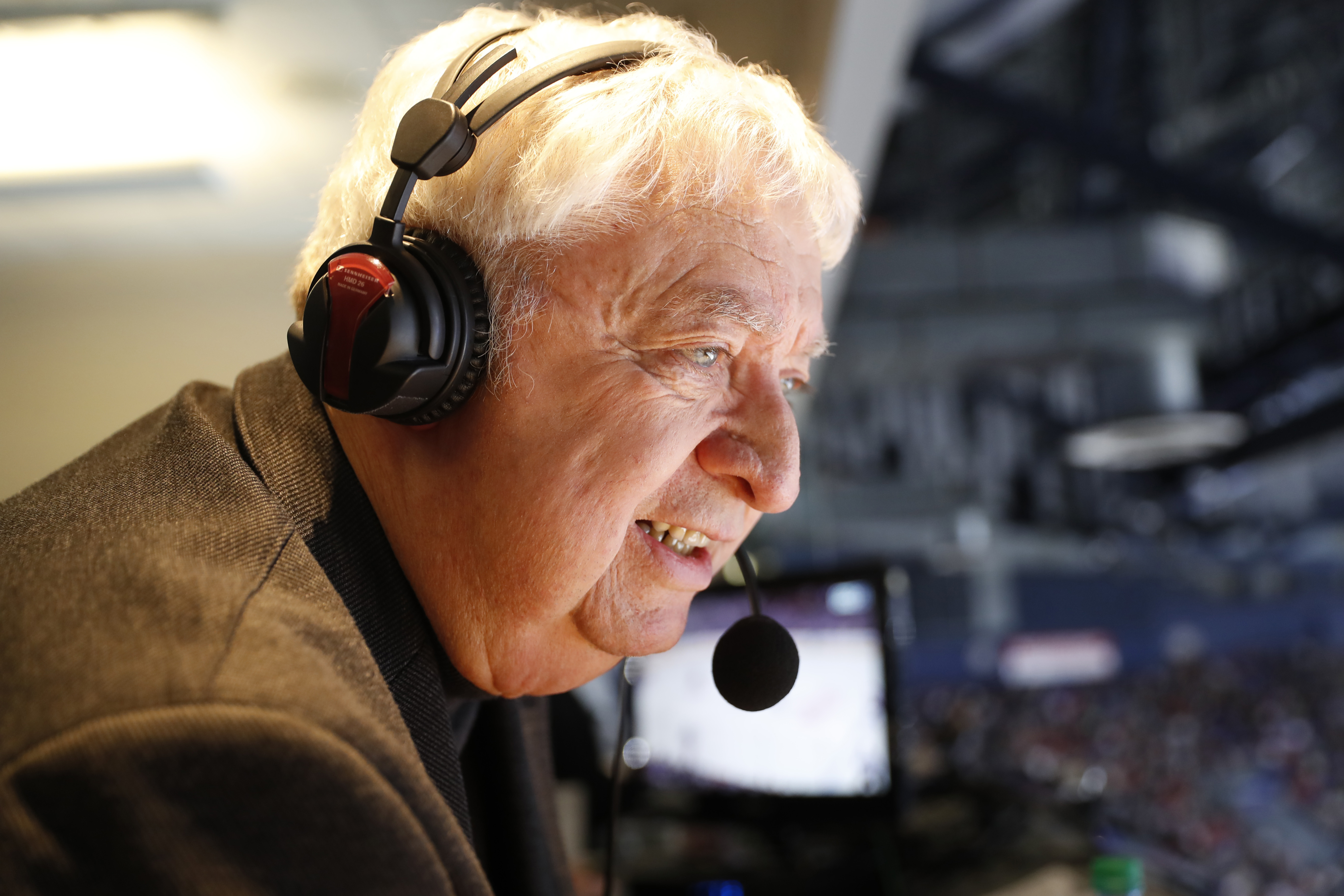 Rick Jeanneret is taking a vacation until March 2, but his booming voice will be back. (Harry Scull Jr./Buffalo News)