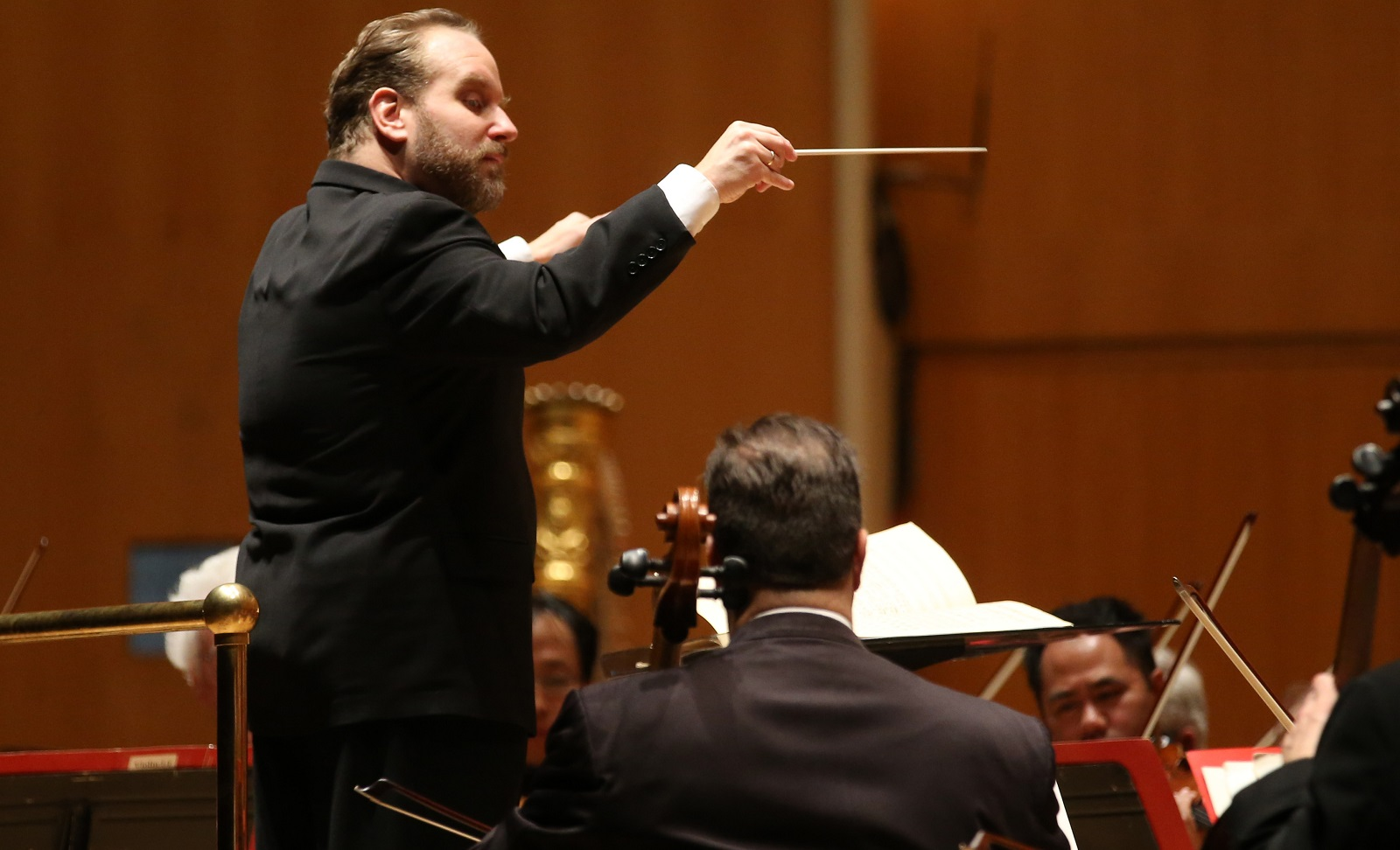 "Stefan Sanders leads the BPO in a previous ""Know the Score"" concert. The Beethoven presentation is part of that popular series. (Sharon Cantillon/Buffalo News file photo)"