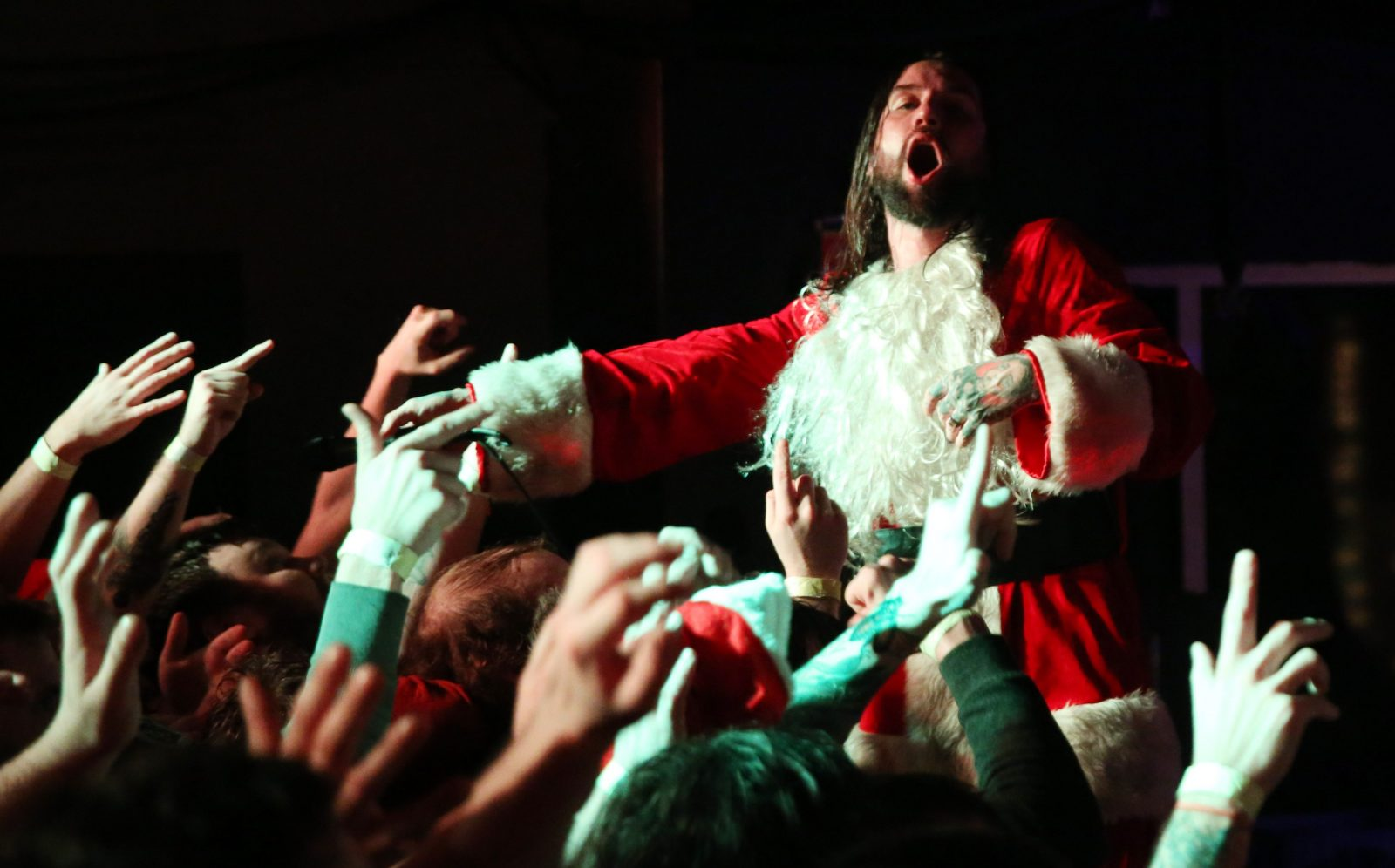 Keith Buckley and Every Time I Die have announced the info for its next Tid the Season holiday show. Pictured is Keith Buckley at one of the 2016 concerts.  (Sharon Cantillon/Buffalo News file photo)
