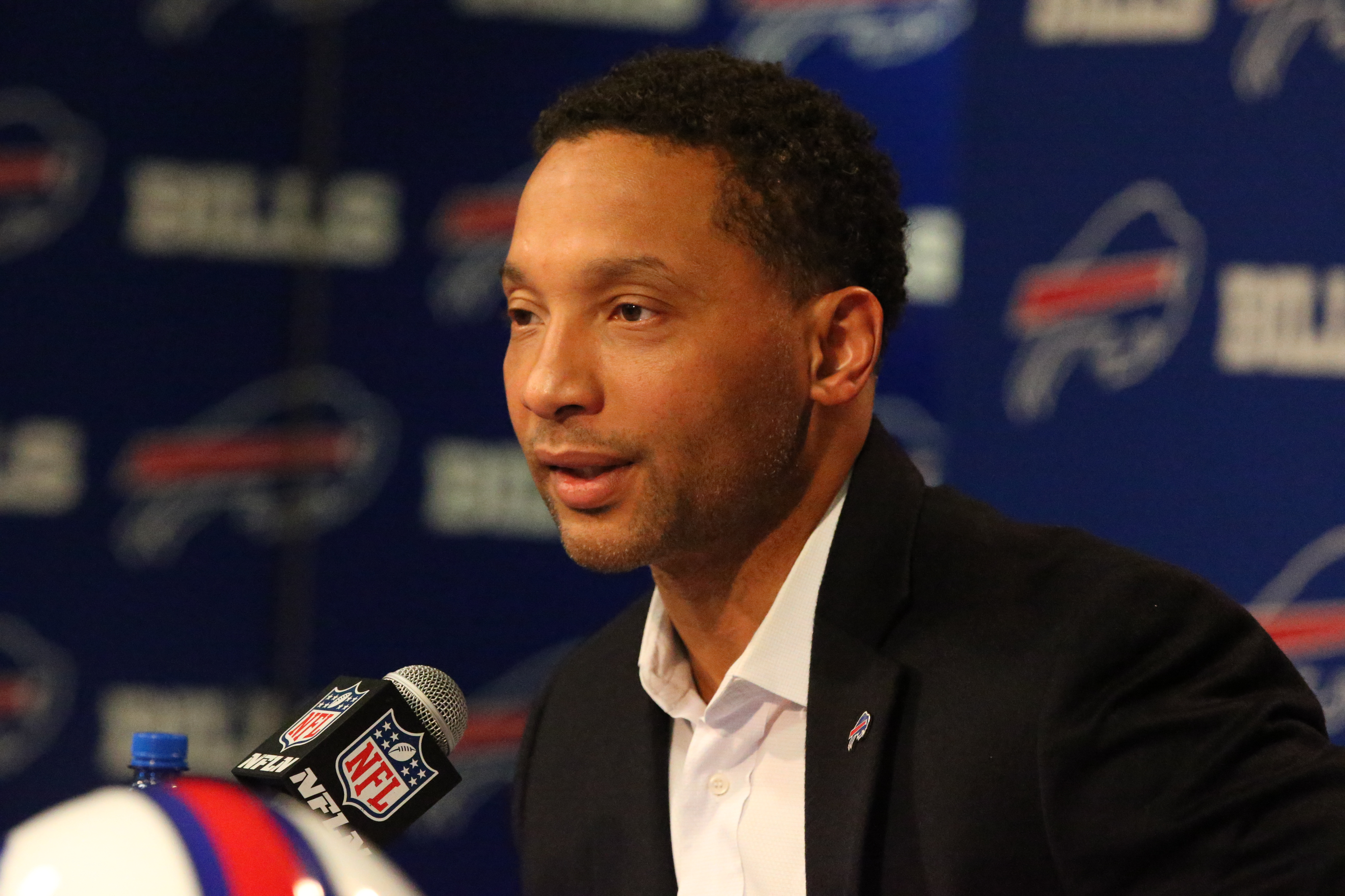 Former General Manager Doug Whaley was kept out of the public eye as much as possible by the Buffalo Bills toward the end of his tenure. (James P. McCoy/Buffalo News)
