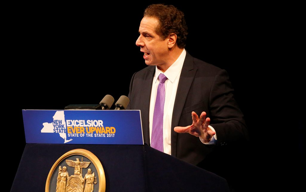 "Gov. Andrew Cuomo Cuomo proposes a continuation of the current ""millionaires' tax,'' which was first imposed during a budget crisis in 2009 and then tweaked and extended again in 2012 during Cuomo's second year in office. (Mark Mulville/Buffalo News)"