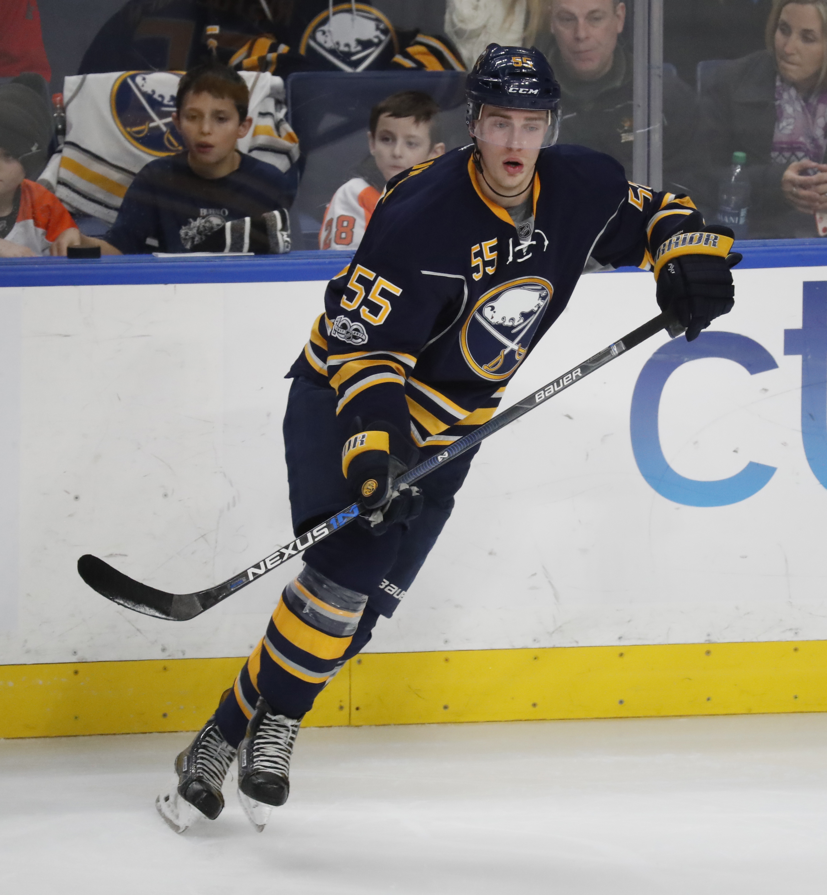 Rasmus Ristolainen may, or may not, have scored for the Sabres on Thursday. (Harry Scull Jr./News file photo)