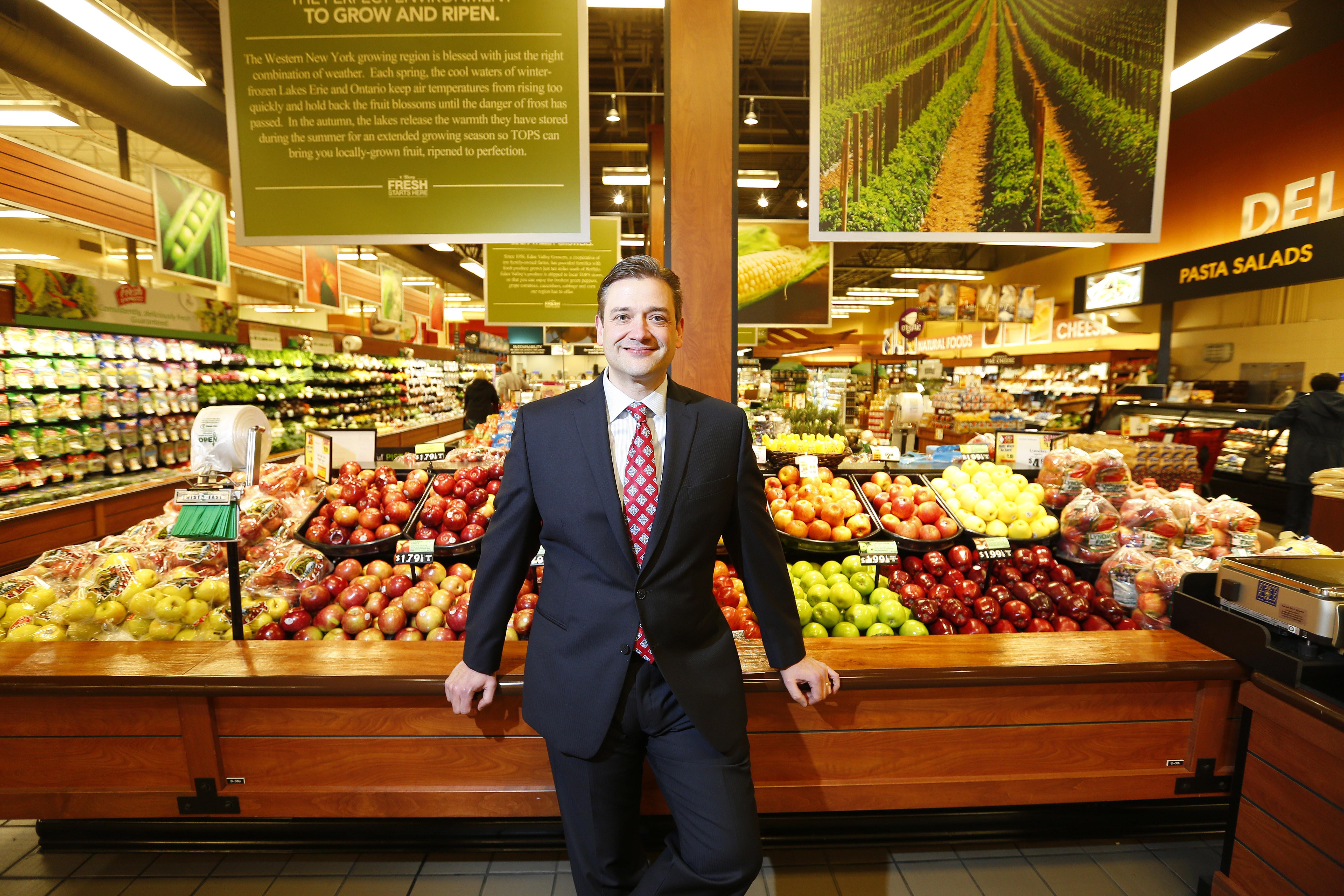Tops Markets President and COO John Persons in the company's Depew store. (Mark Mulville/Buffalo News)