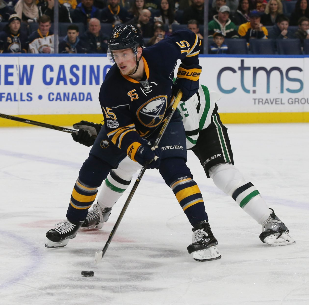 Jack Eichel is close to returning, but won't play Thursday against Toronto. (James P. McCoy/Buffalo News File Photo)