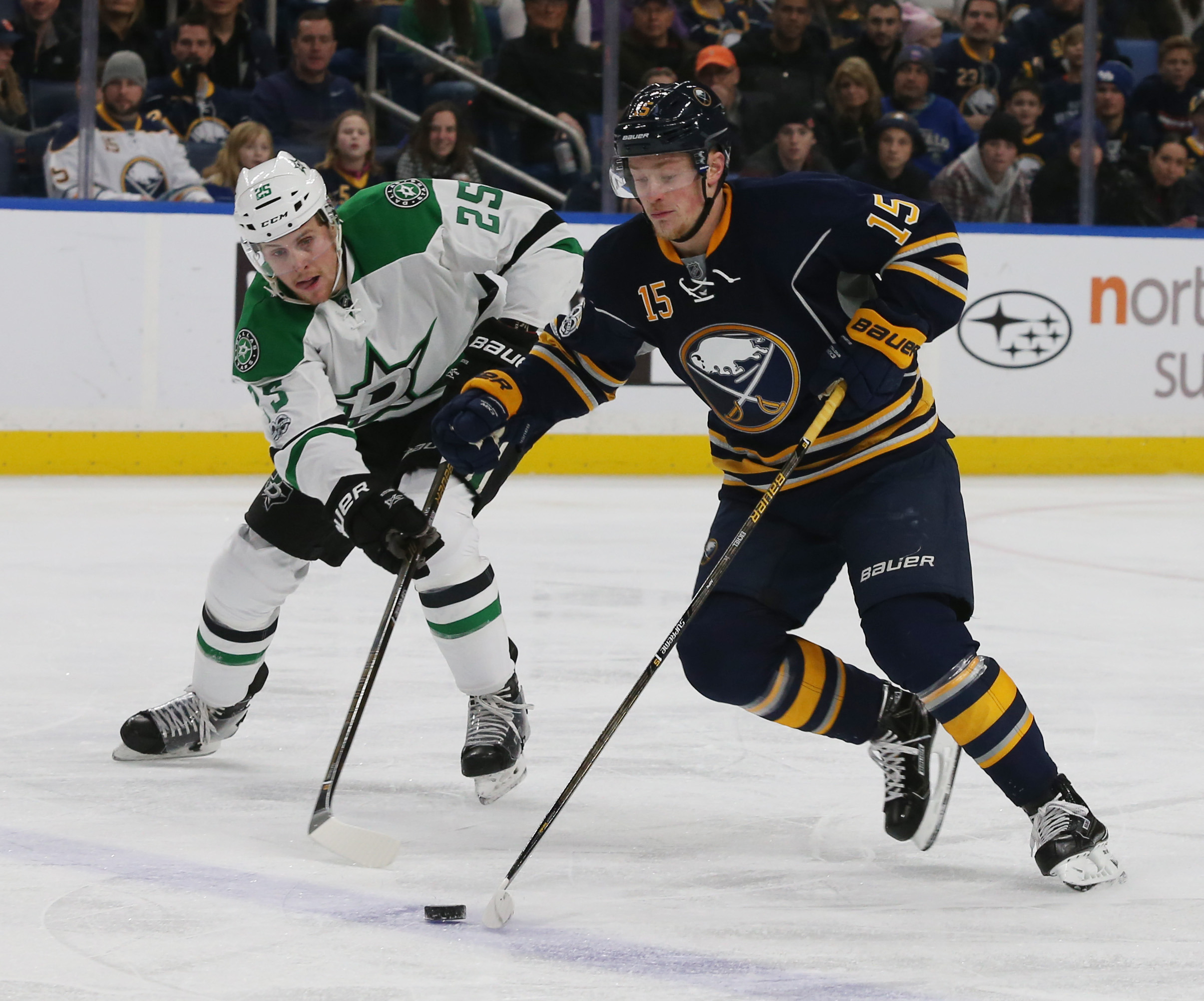 Jack Eichel and the Sabres returned from the All-Star break with energy.  (James P. McCoy/Buffalo News)