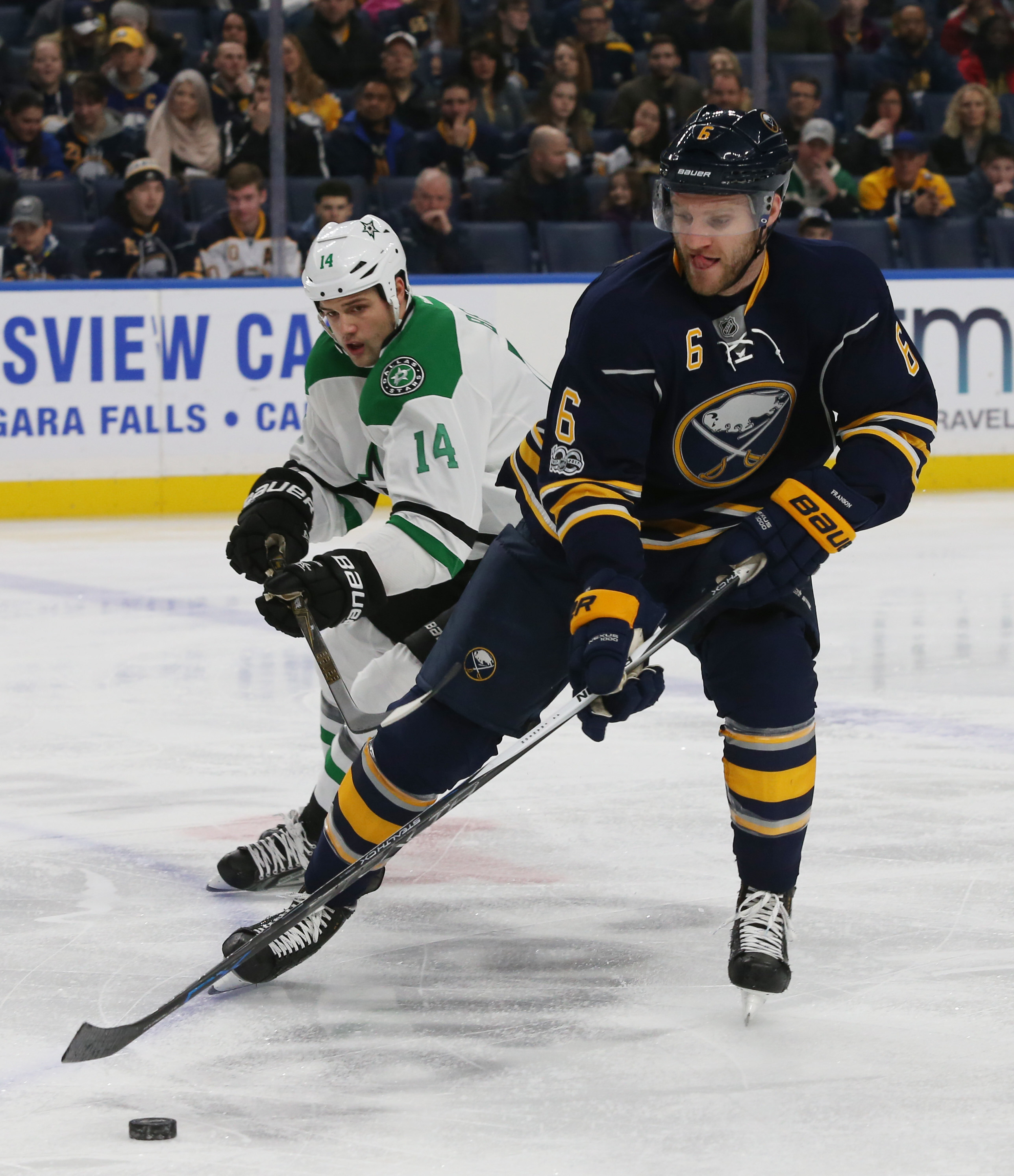 Defenseman Cody Franson remained with the Sabres after the NHL trade deadline passed.  (James P. McCoy/Buffalo News)