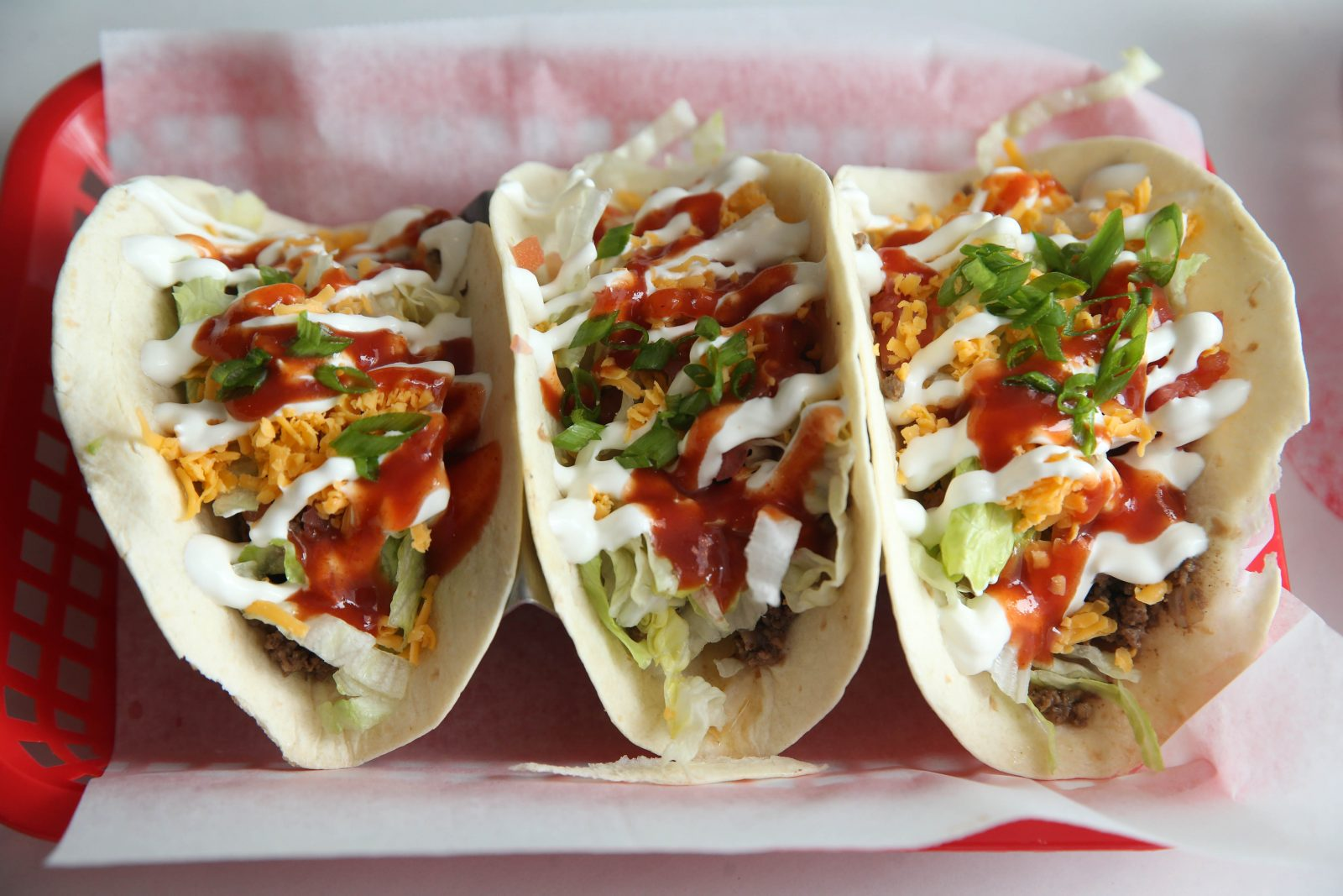 The mix-and-match three-taco lunch special is $7 at Cantina 62 in Lackawanna. (Sharon Cantillon/Buffalo News)