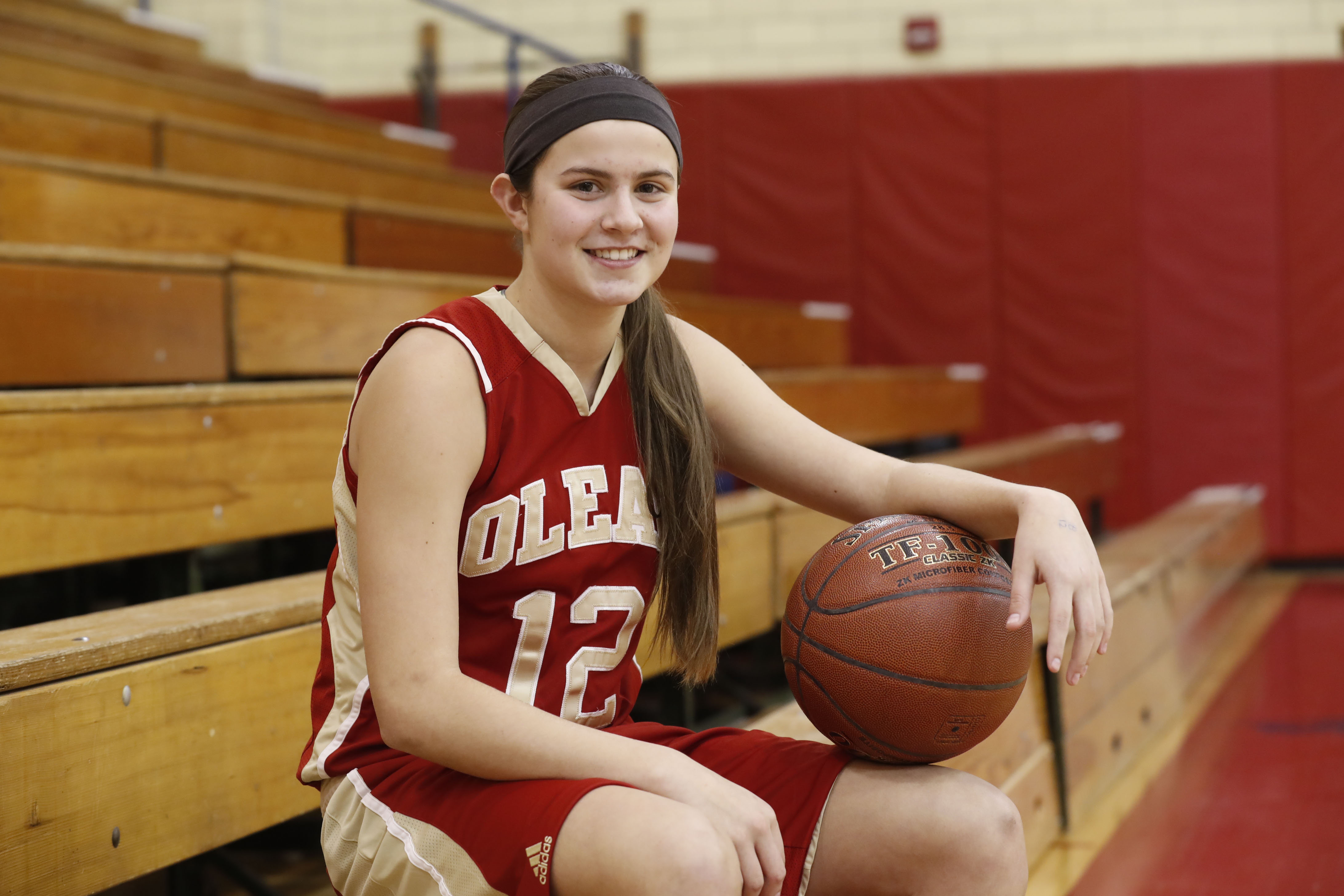 Olean's Sara Pfeiffer scored 63 points against Maple Grove on Feb. 3. (Harry Scull Jr./News file photo)