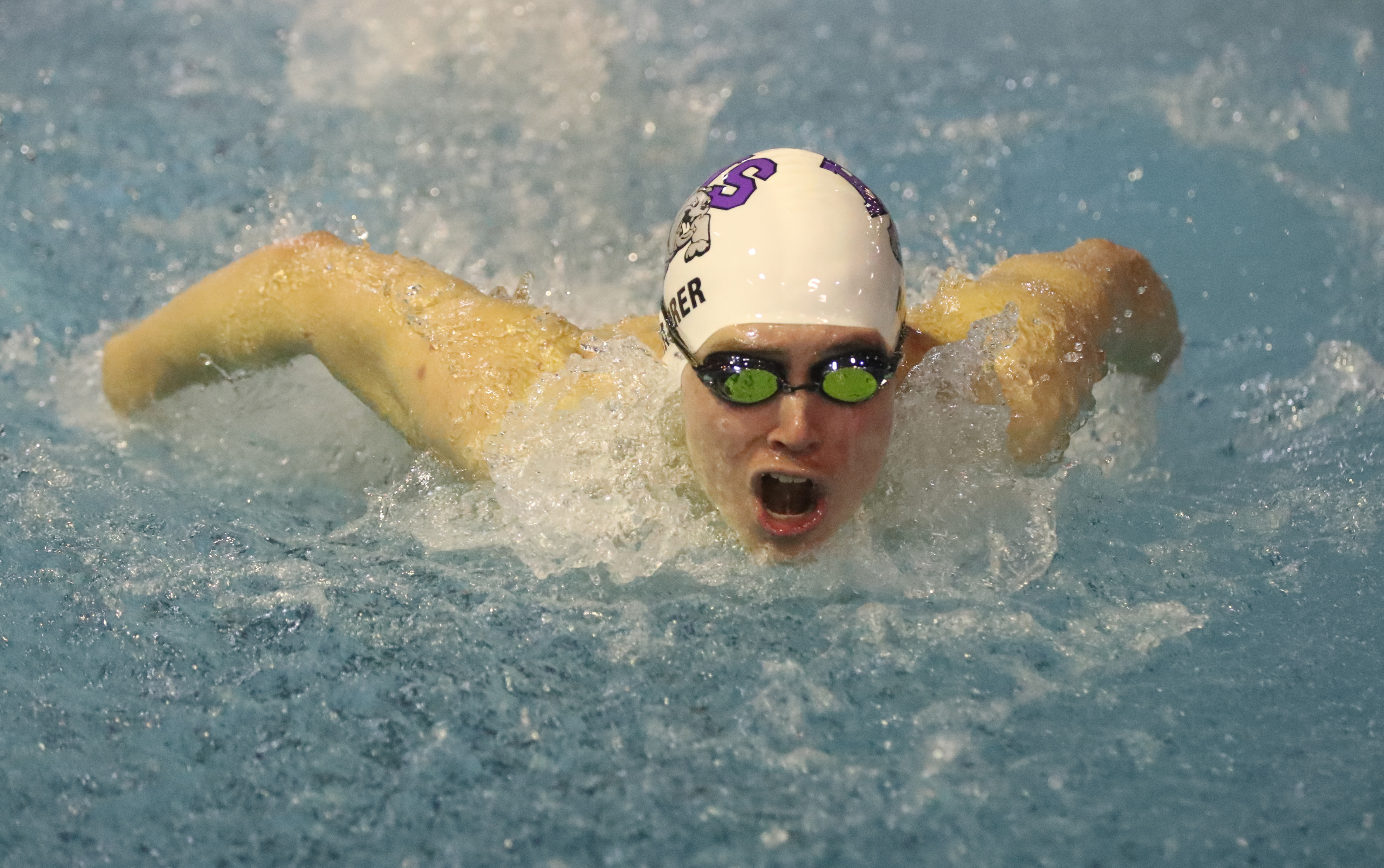 Hamburg's Michael Maurer holds Western New York's best time this season in the 200 individual medley. (James P. McCoy/Buffalo News)