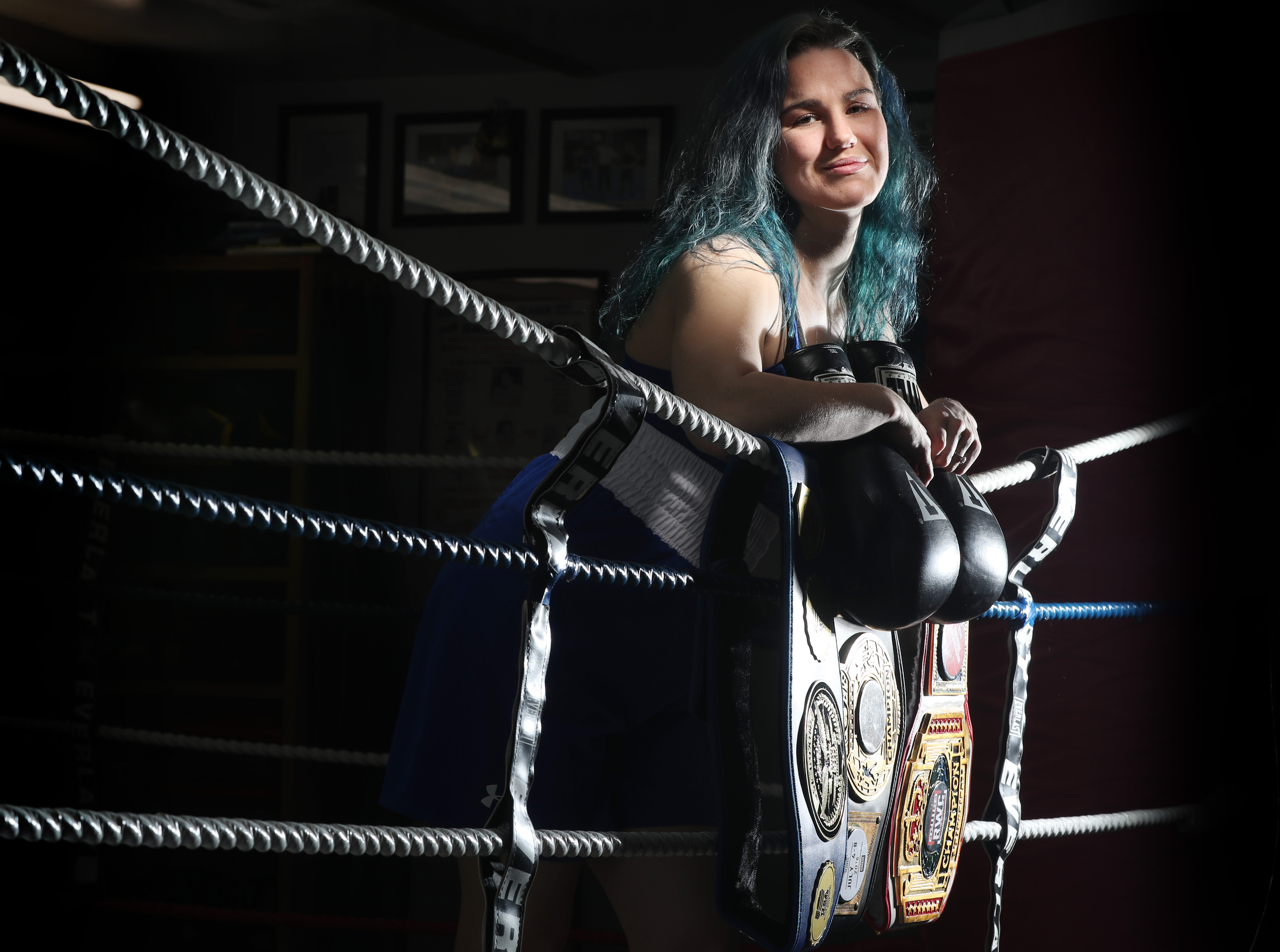 Wendy Casey not only teaches seventh grade math at Westminster Community Charter School in Buffalo, she is a national championship boxer. Her next goal is the 2020 Olympics in Tokyo. (James P. McCoy/Buffalo News)
