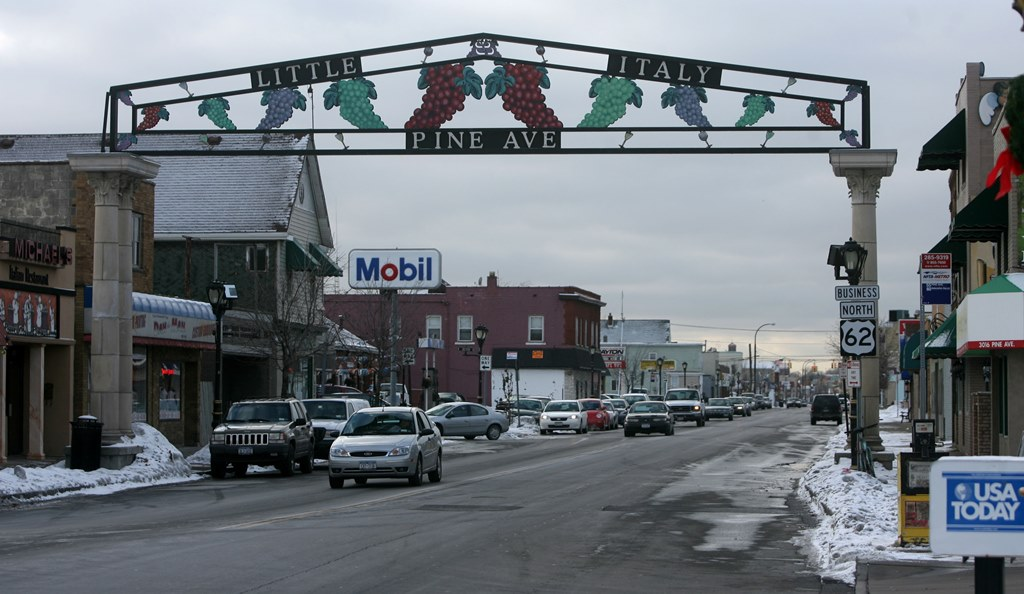 A sign indicating the 'Little Italy' portion of Pine Avenue in Niagara Falls,. (News file photo)