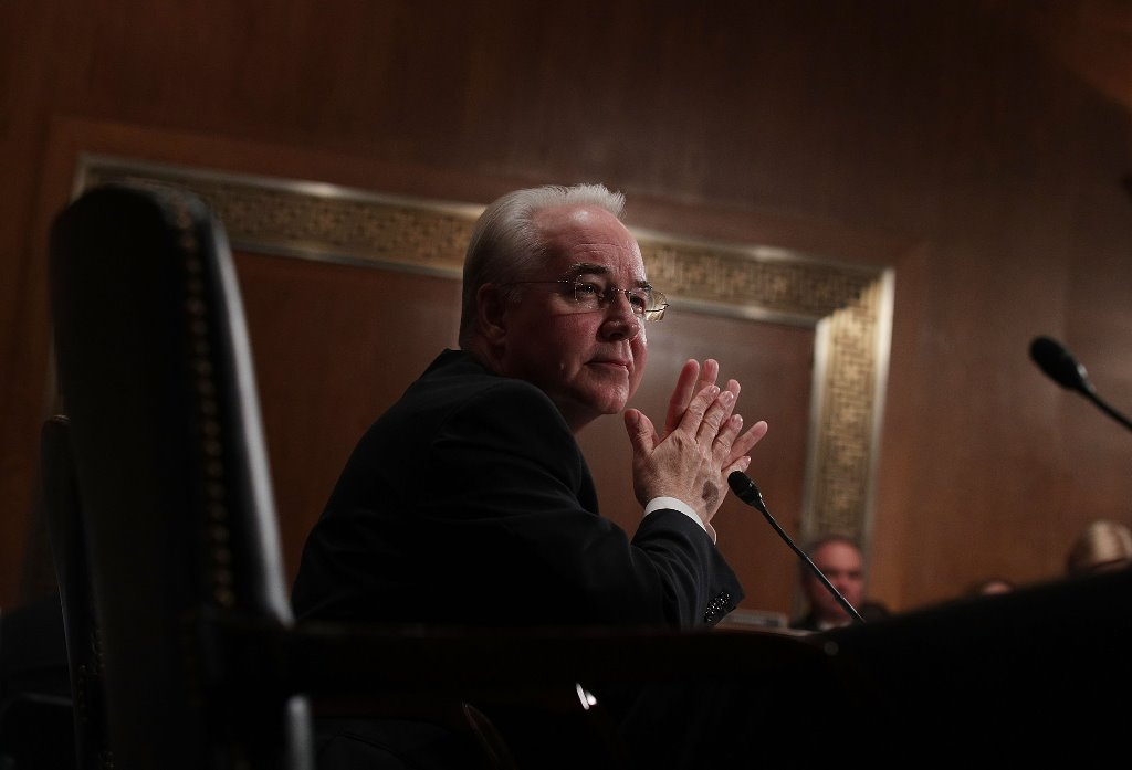 Health and Human Services nominee Tom Price  faced a grilling Wednesday from Democratic senators concerned about stock trades he made in apparent connection with Rep. Chris Collins, R-Clarence. (Getty Images)