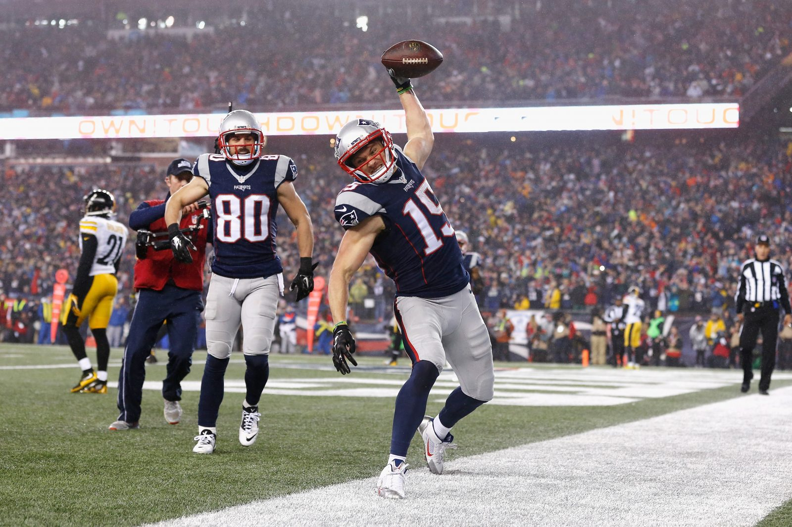 Western New York sports fans were not as interested this year in the New England Patriots defeat of the Pittsburgh Steelers and other NFL playoff games. (Jim Rogash/Getty Images)