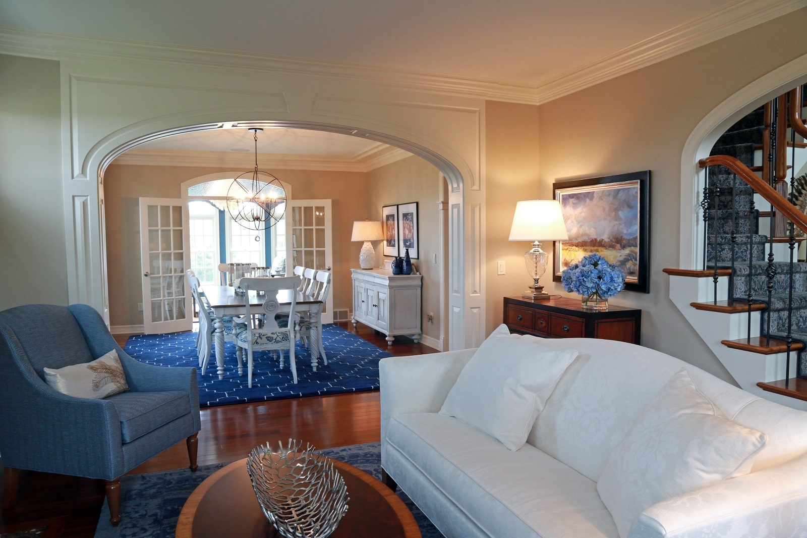 Rex and Michelle Ryan's Western New York home was designed by Peter Balistreri for Ethan Allen, using Ethan Allen furniture. (Dave Jarosz/Buffalo Magazine)