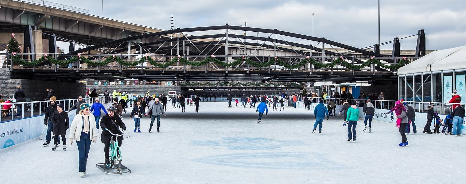 The City of Niagara Falls hopes to have outdoor ice skating, similar to this scene at Canalside in downtown Buffalo. (Don Nieman/Special to The News)