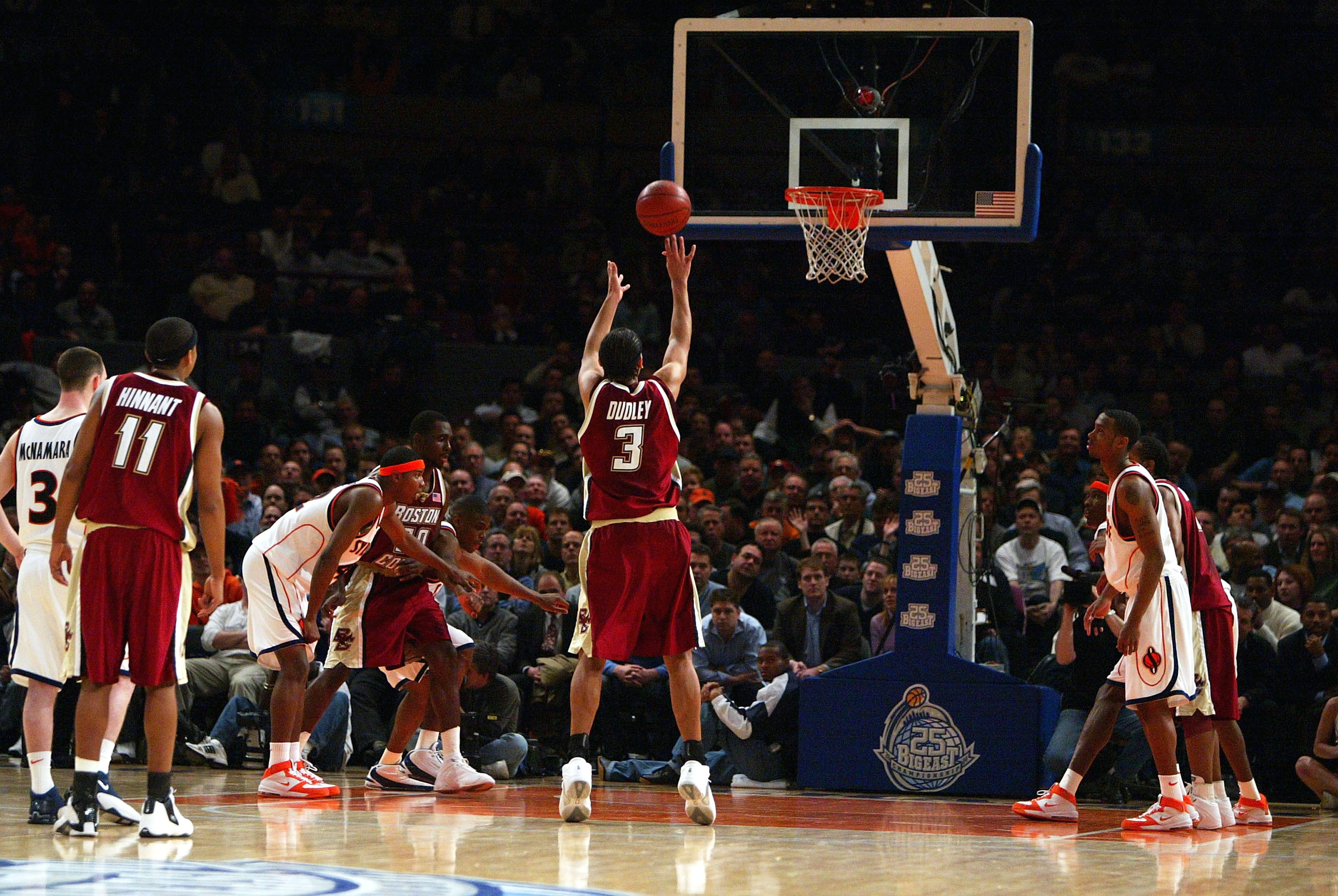 This free-throw shooting form enabled Boston College's Jared Dudley to make 18 free throws in 21 attempts against Wisconsin-Milwaukee. (Getty Images)