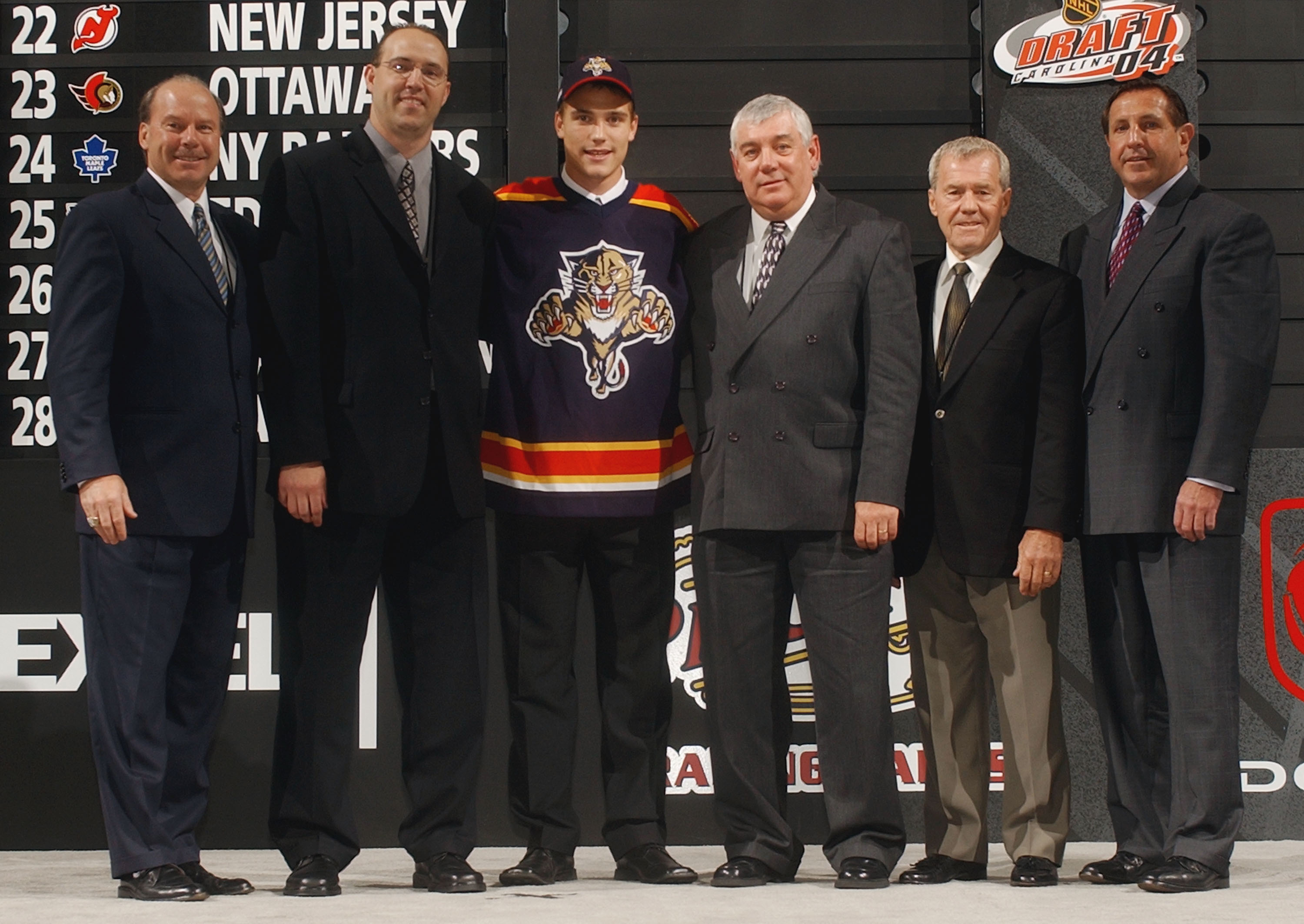 Billy Dea, second from the right, served as a scout for the Florida Panthers after his playing career. (Getty Images)