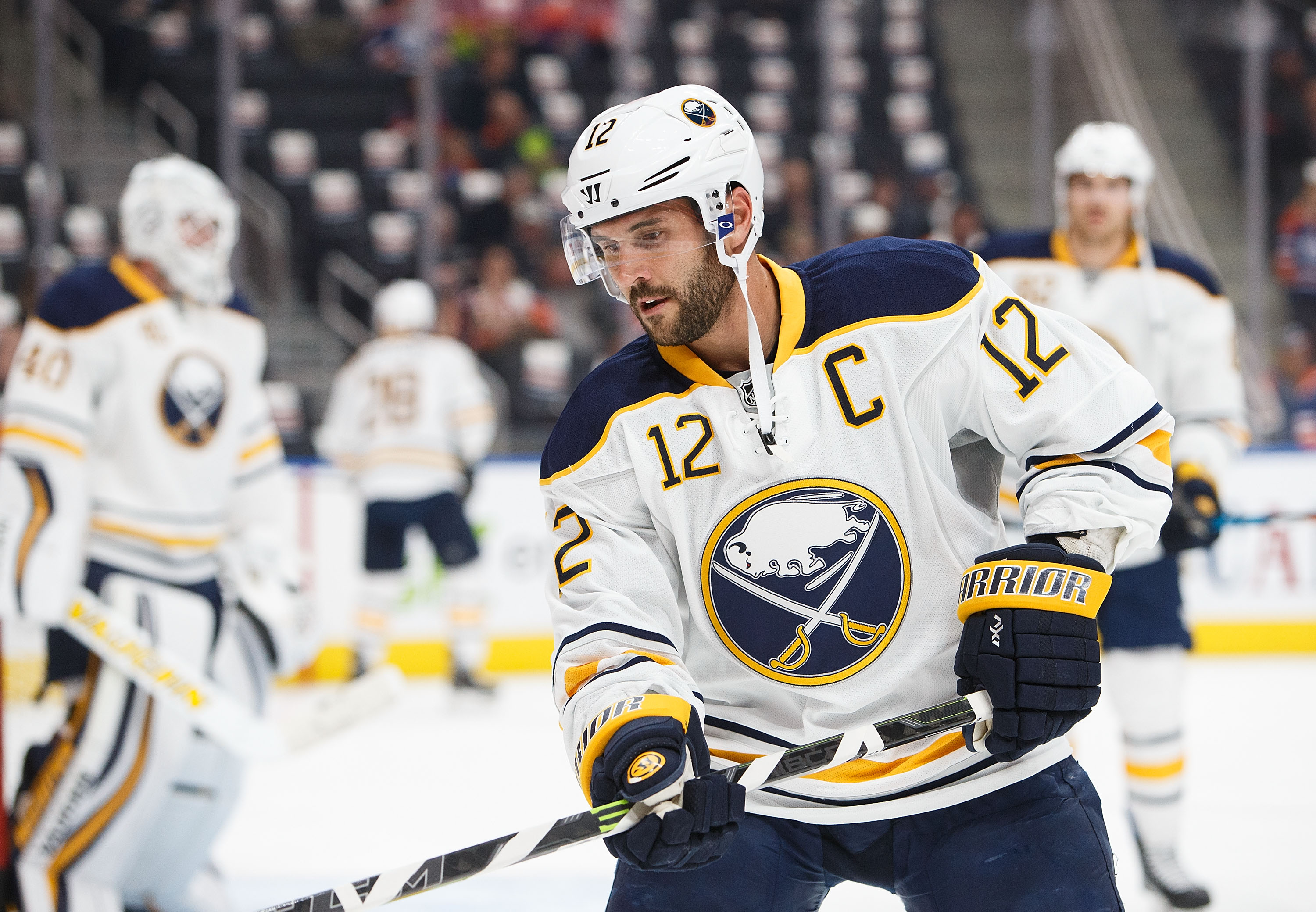 Brian Gionta can be traded, but he wants to finish the rebuild he started with Sabres. (Getty Images)