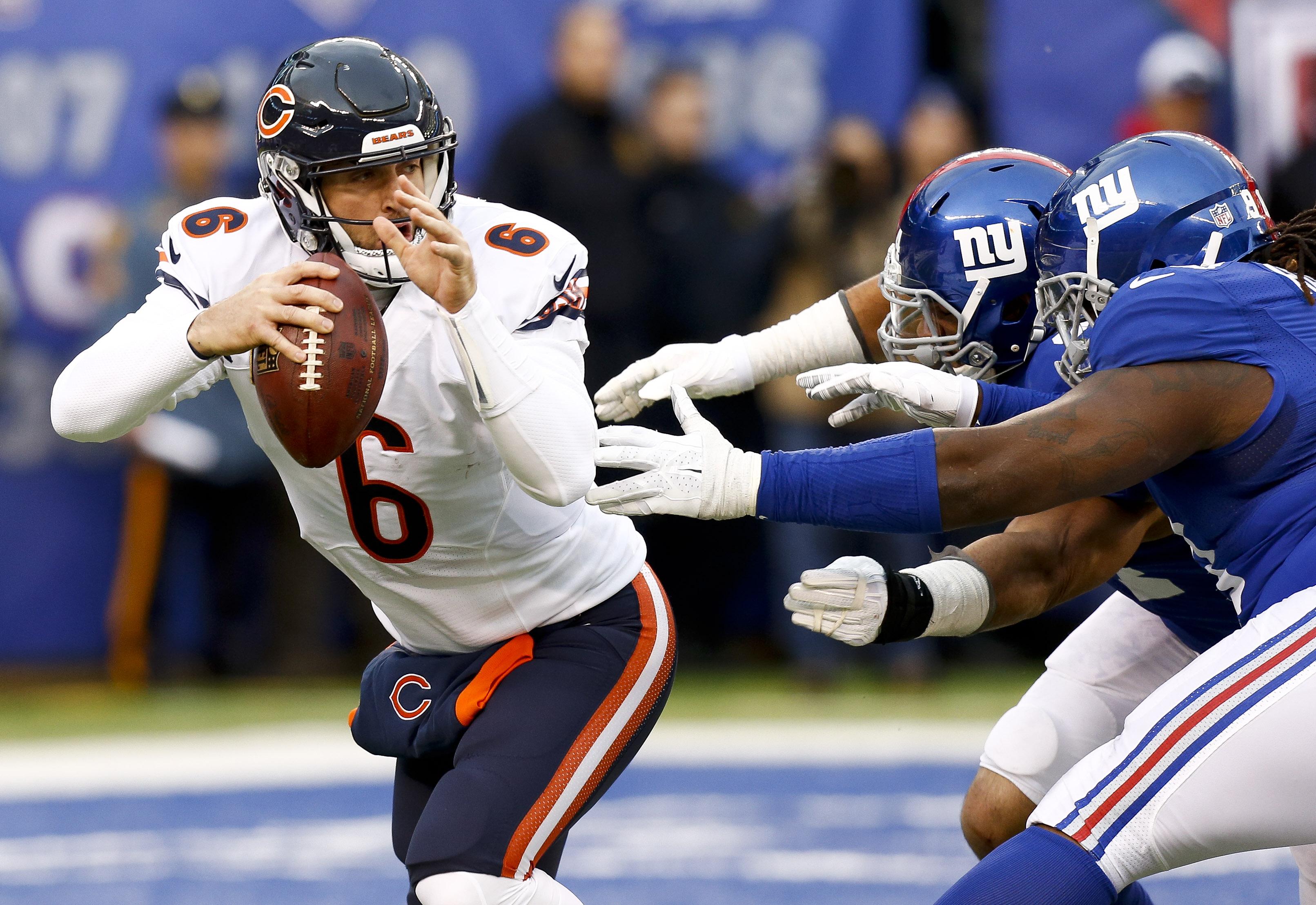 Quarterback Jay Cutler played under Bills offensive coordinator Rick Dennison in Denver. (Getty Images)