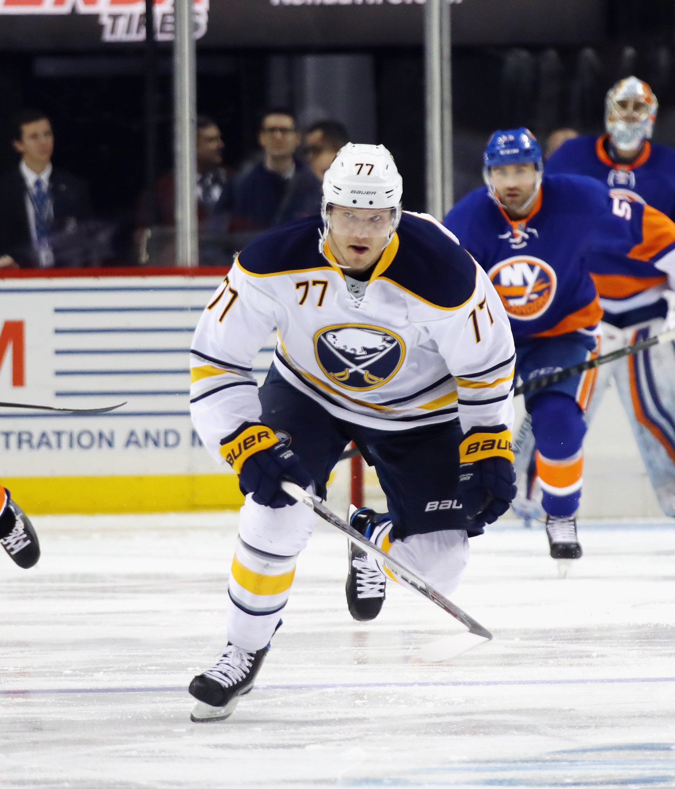 Sabres defenseman Dmitry Kulikov will play for the first time since Dec. 27.  (Getty Images)