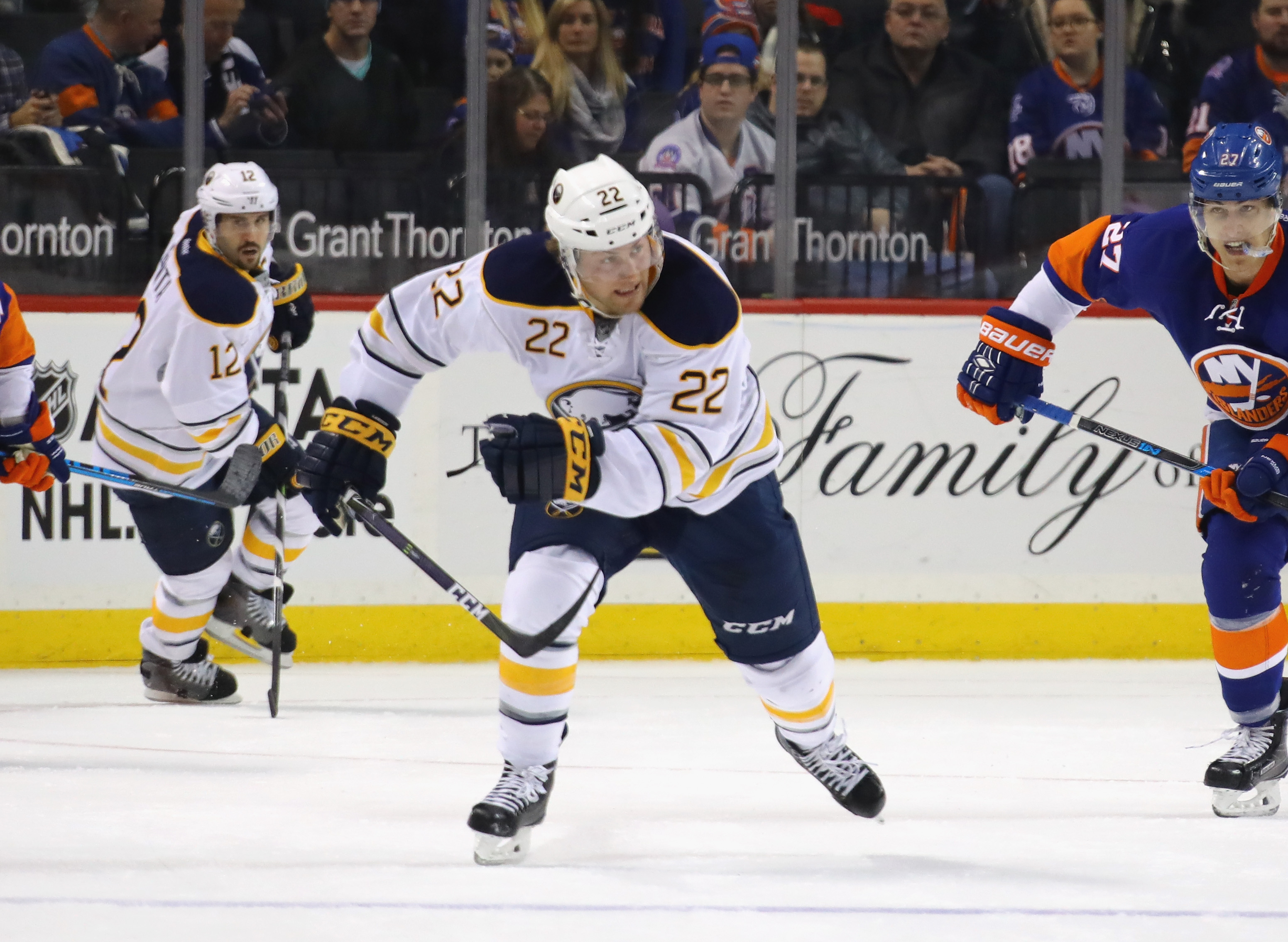 Johan Larsson suffered dislocations of his wrist and elbow. (Getty Images)