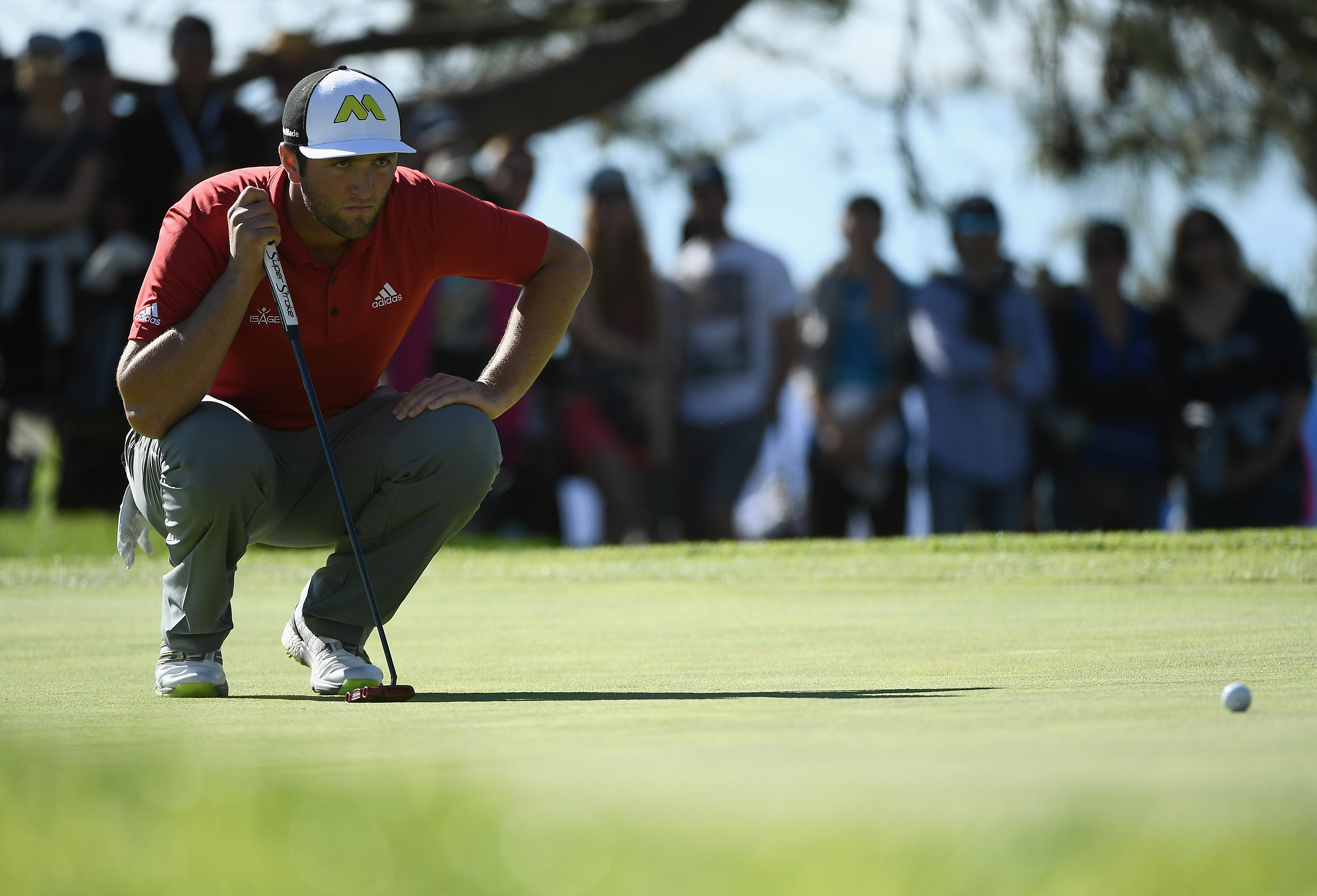 Jon Rahm earned his first career PGA Tour win Sunday at the Farmers Insurance Open. (Getty Images)