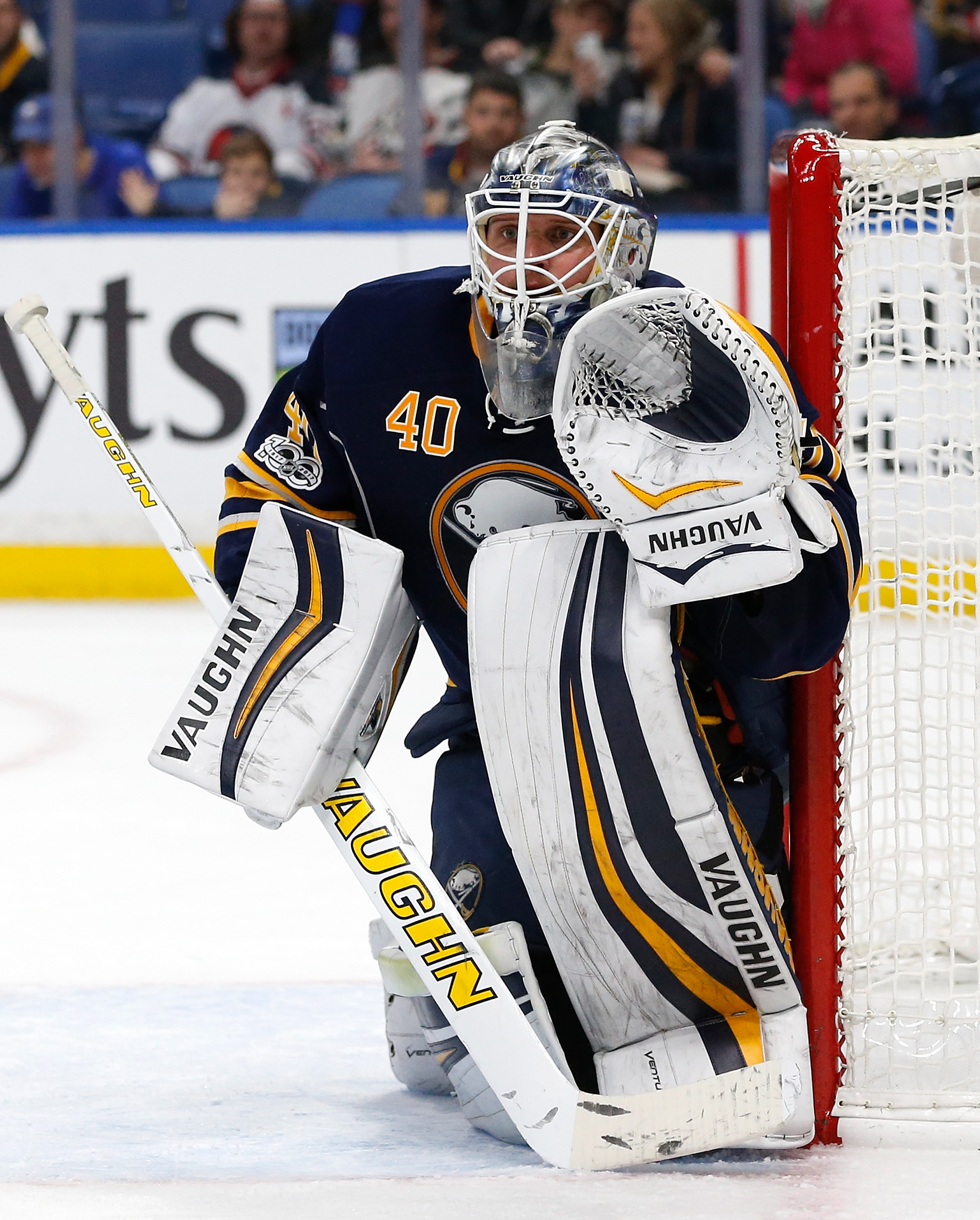 Robin Lehner now has three career wins when allowing four goals. (Getty Images)