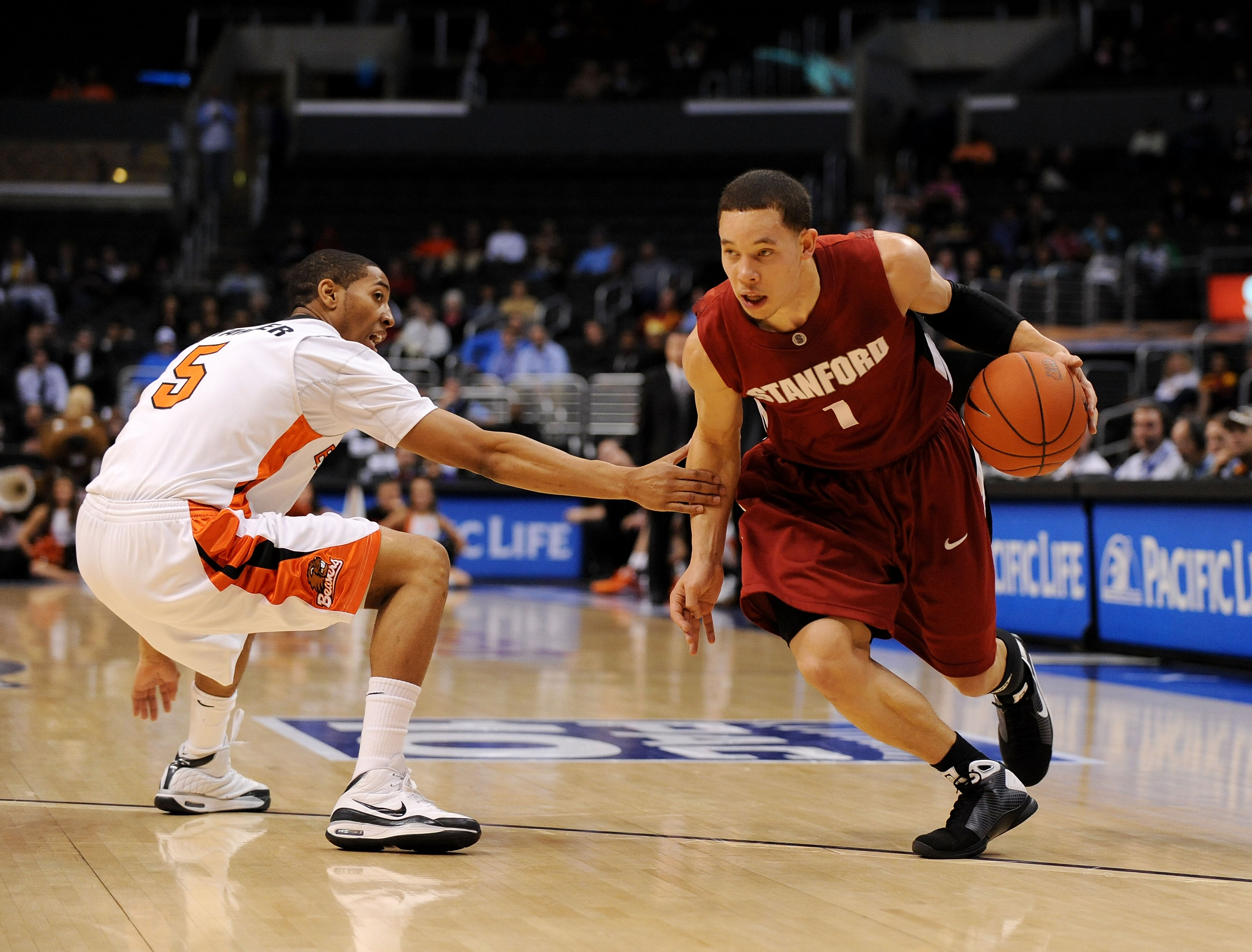 Stanford's Mitch Johnson dished out 16 assists in a 2008 overtime victory over Marquette. (Getty Images)