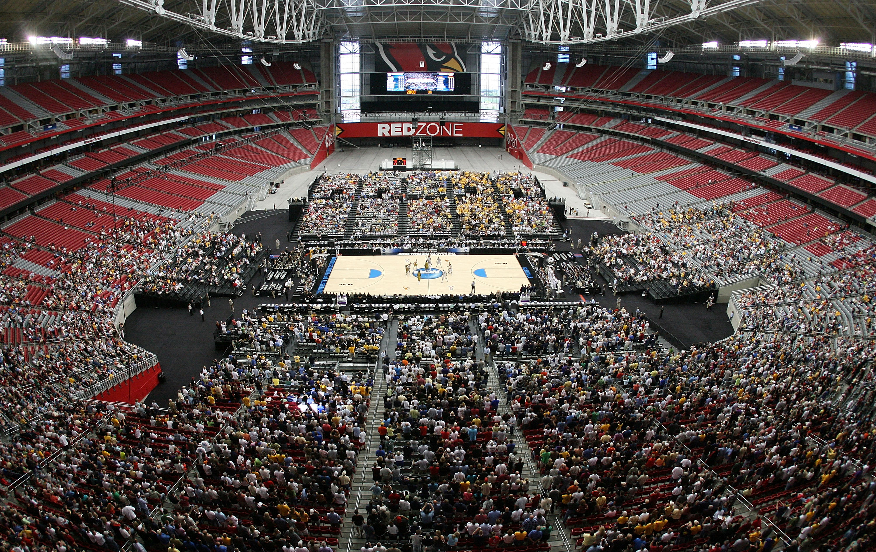 University of Phoenix Stadium, site of the 2017 Final Four. (Getty Images)