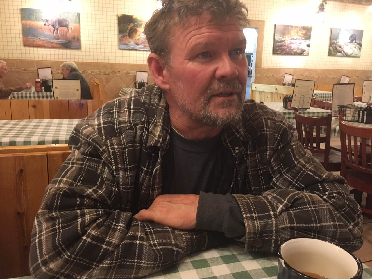 Bjorn Nittmo during an interview in the Pine Country Restaurant in Williams, Ariz.. (Tim Graham/Buffalo News)